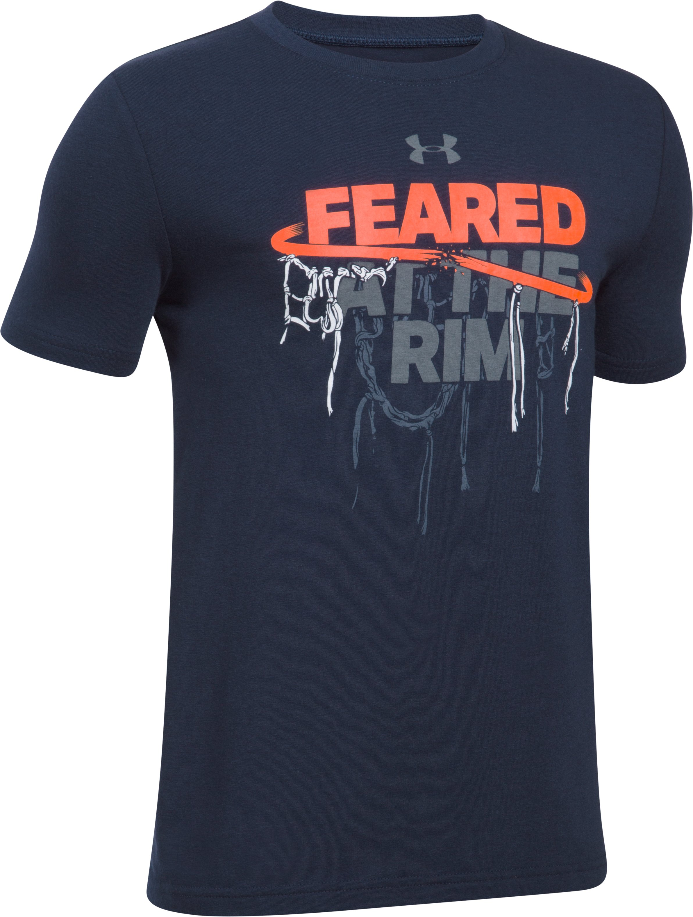 Boys' UA Feared At The Rim T-Shirt, Midnight Navy,