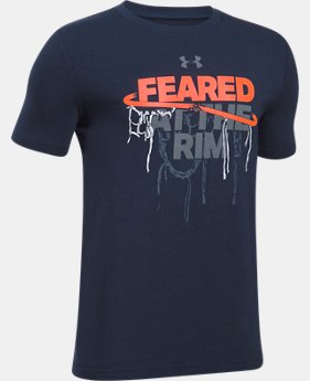Boys' UA Feared At The Rim T-Shirt  3 Colors $19.99