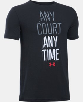 New Arrival Boys' UA Any Court Any Time T-Shirt  1 Color $19.99