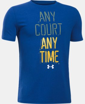 New Arrival  Boys' UA Any Court Any Time T-Shirt  1 Color $22.99