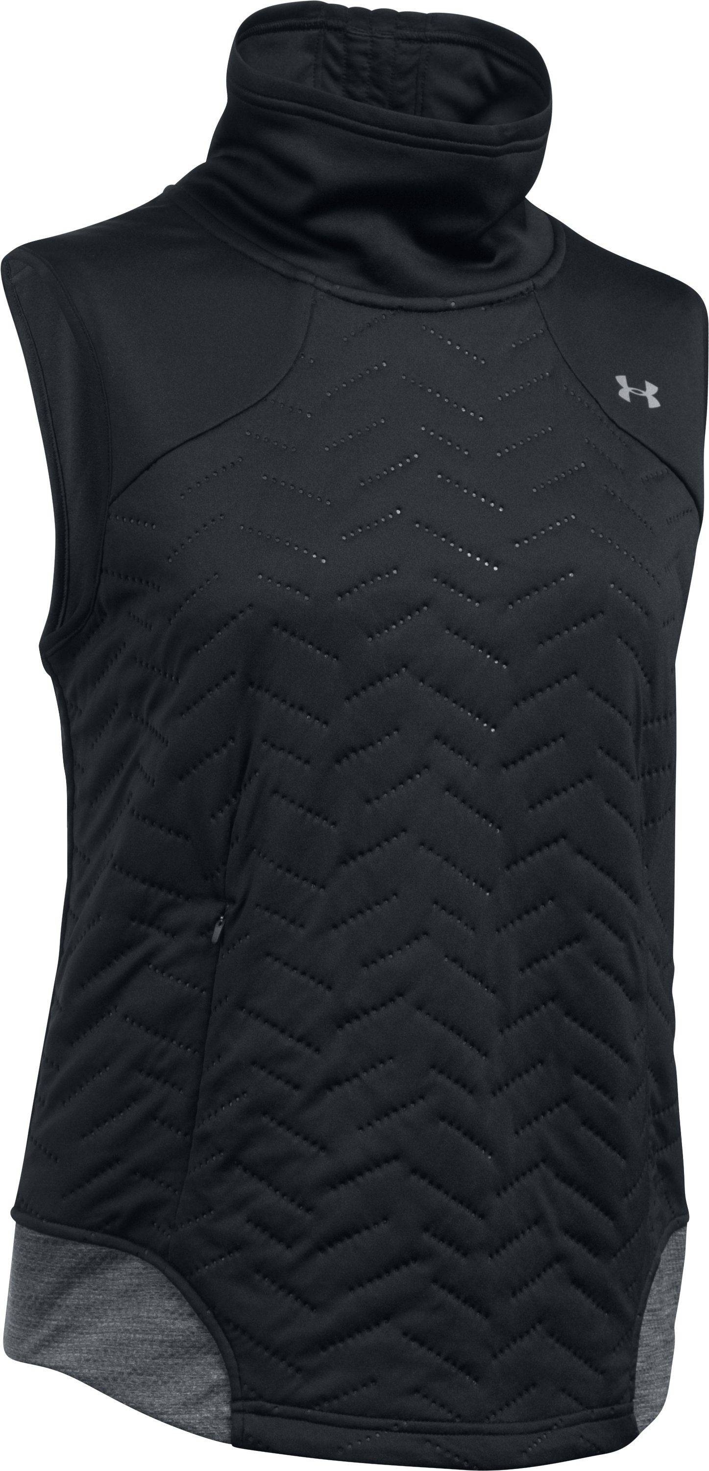 Women's ColdGear® Reactor Exert Vest, Black , undefined