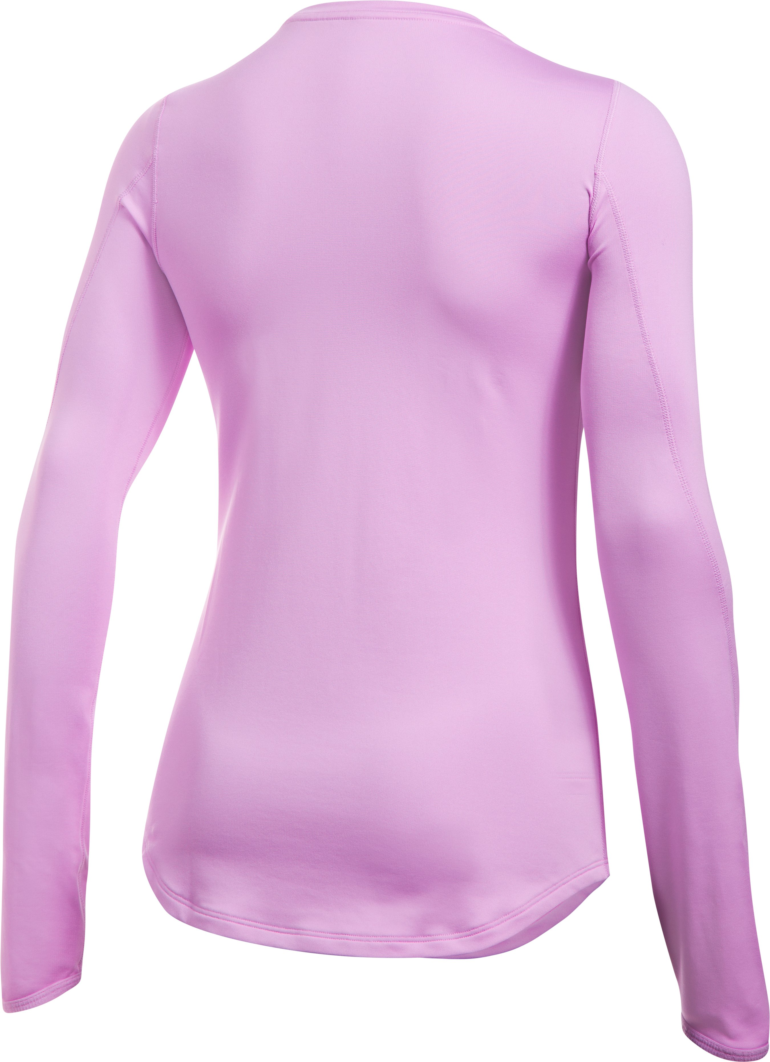 Women's ColdGear® Armour Fitted Crew, ICELANDIC ROSE, undefined