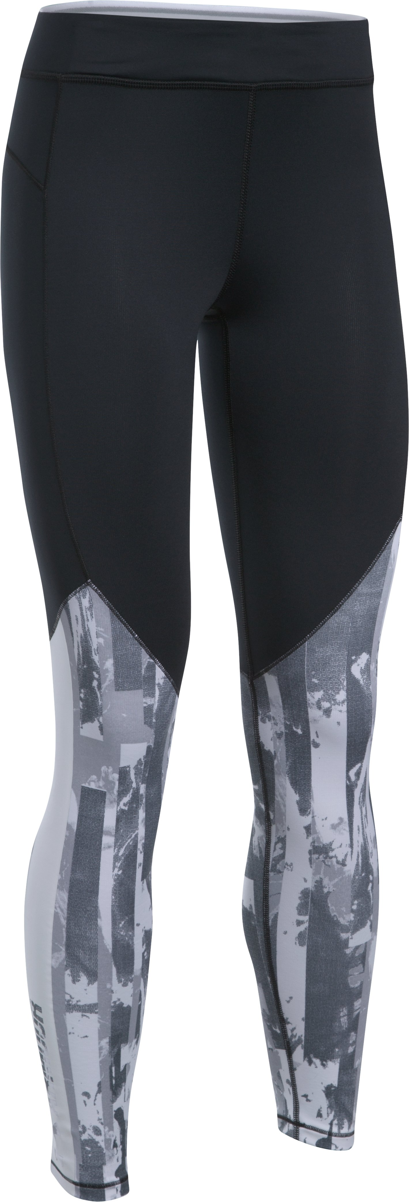 Women's ColdGear® Armour Printed Leggings, Black , undefined