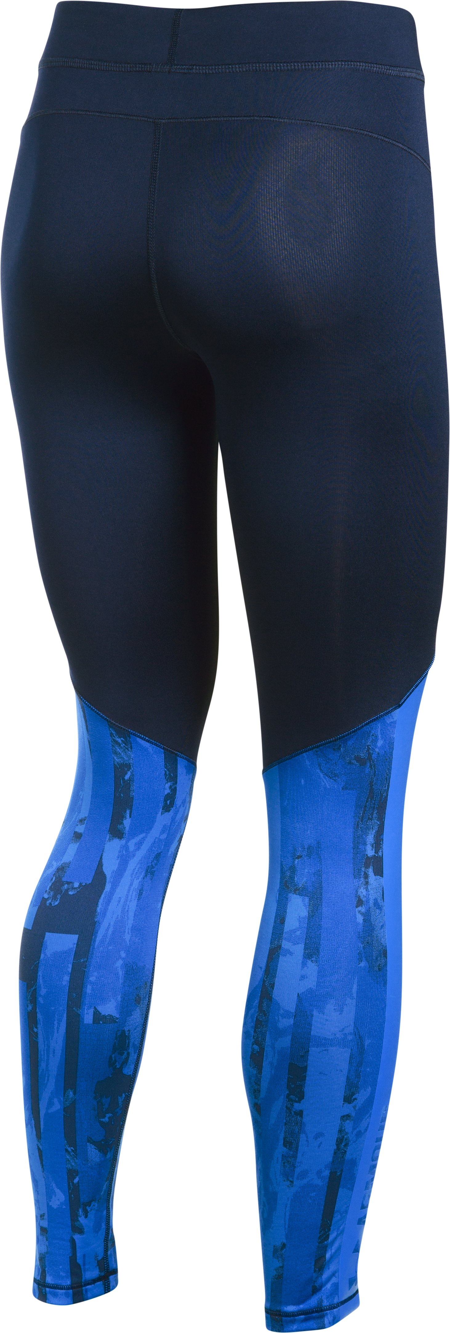 Women's ColdGear® Armour Printed Leggings, Midnight Navy,