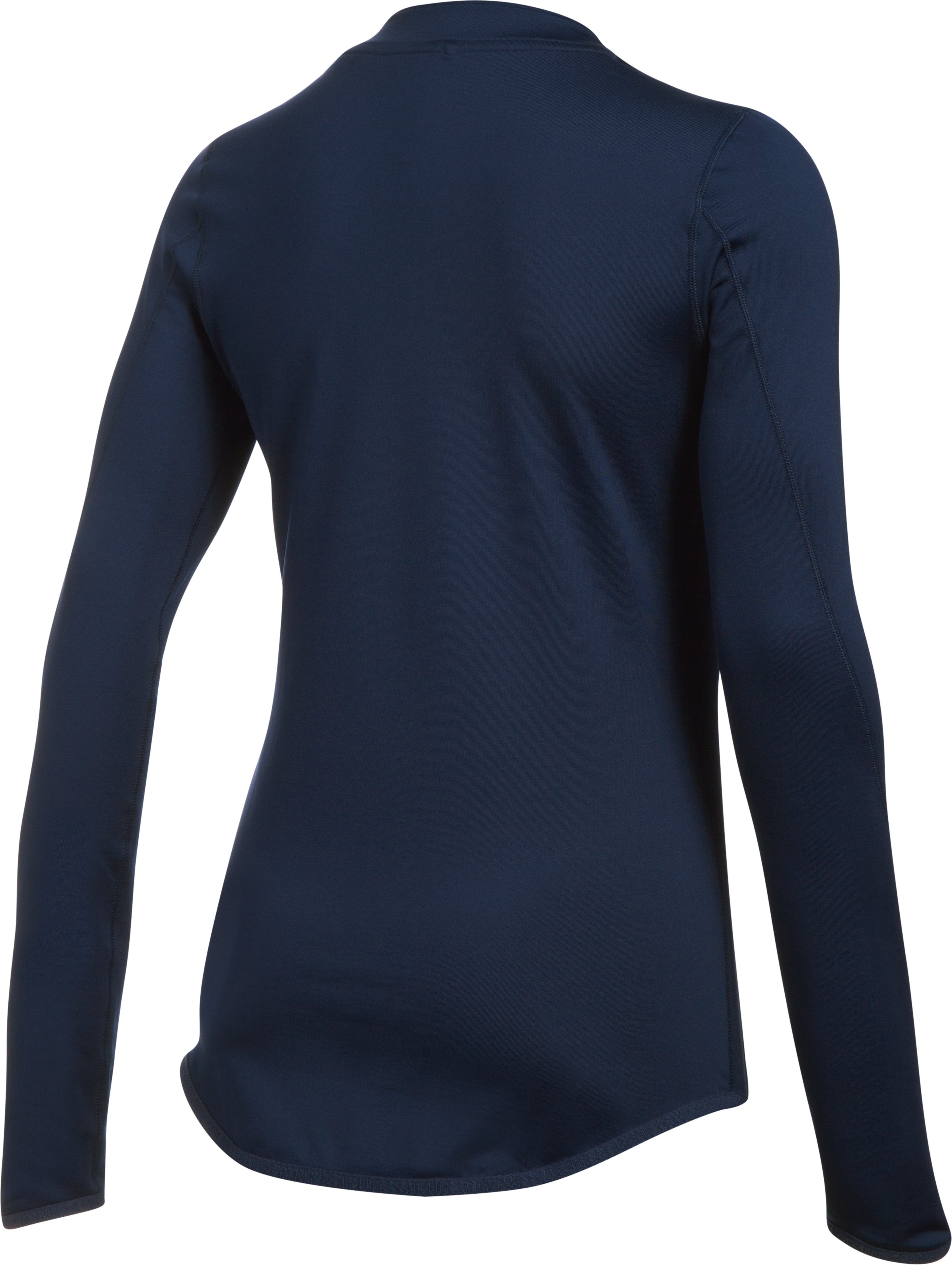Women's ColdGear® Armour Fitted Mock Neck, Midnight Navy,