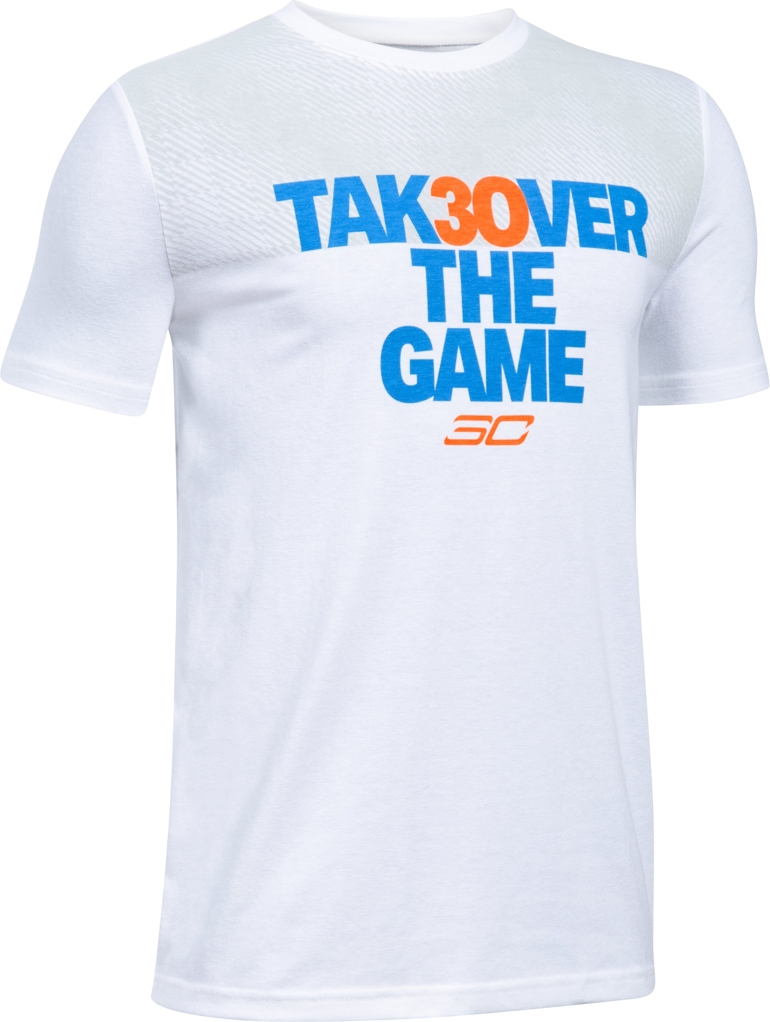Boys' SC30 Takeover T-Shirt, White, undefined