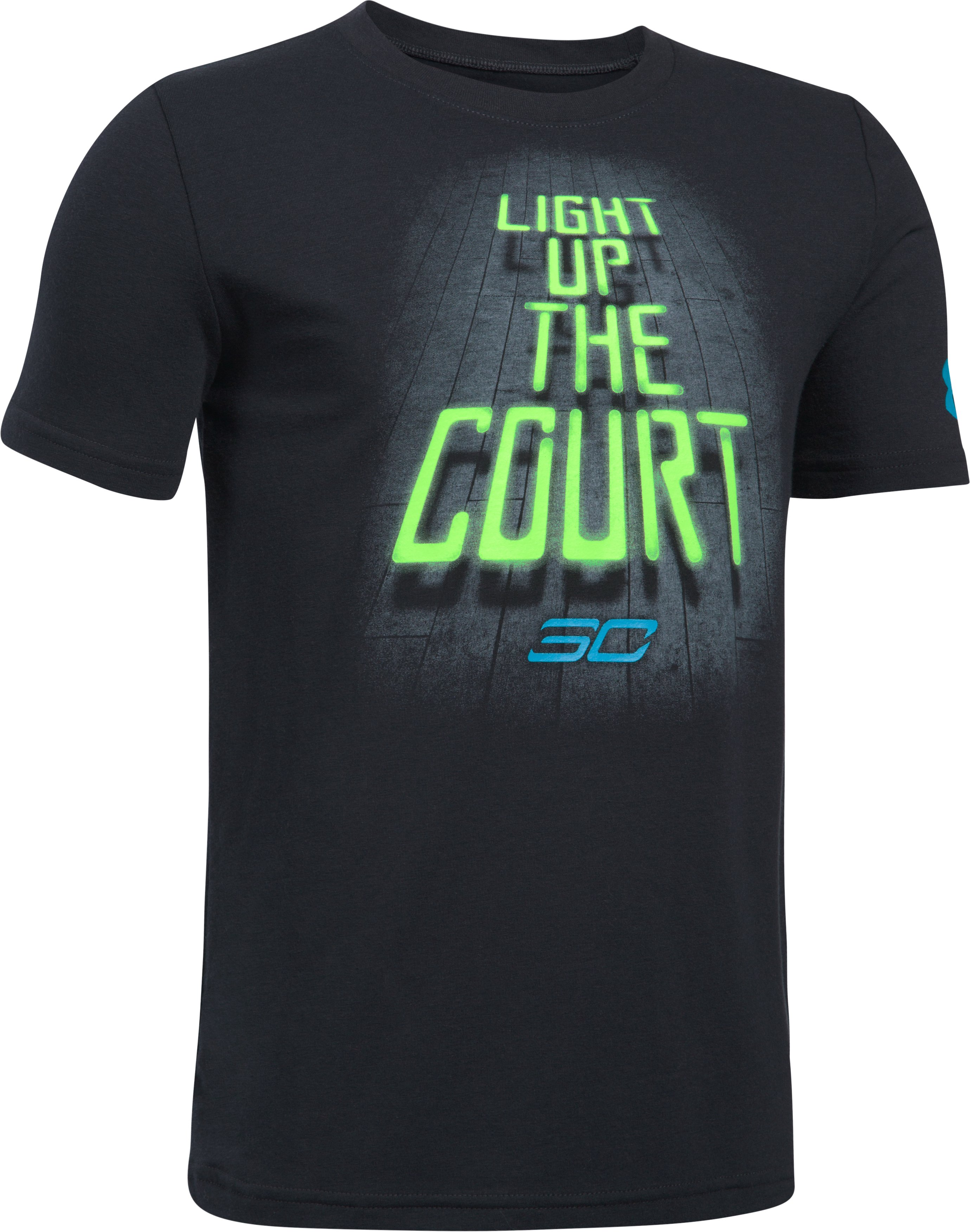 Boys' SC30 Light Up The Court T-Shirt, Black , undefined