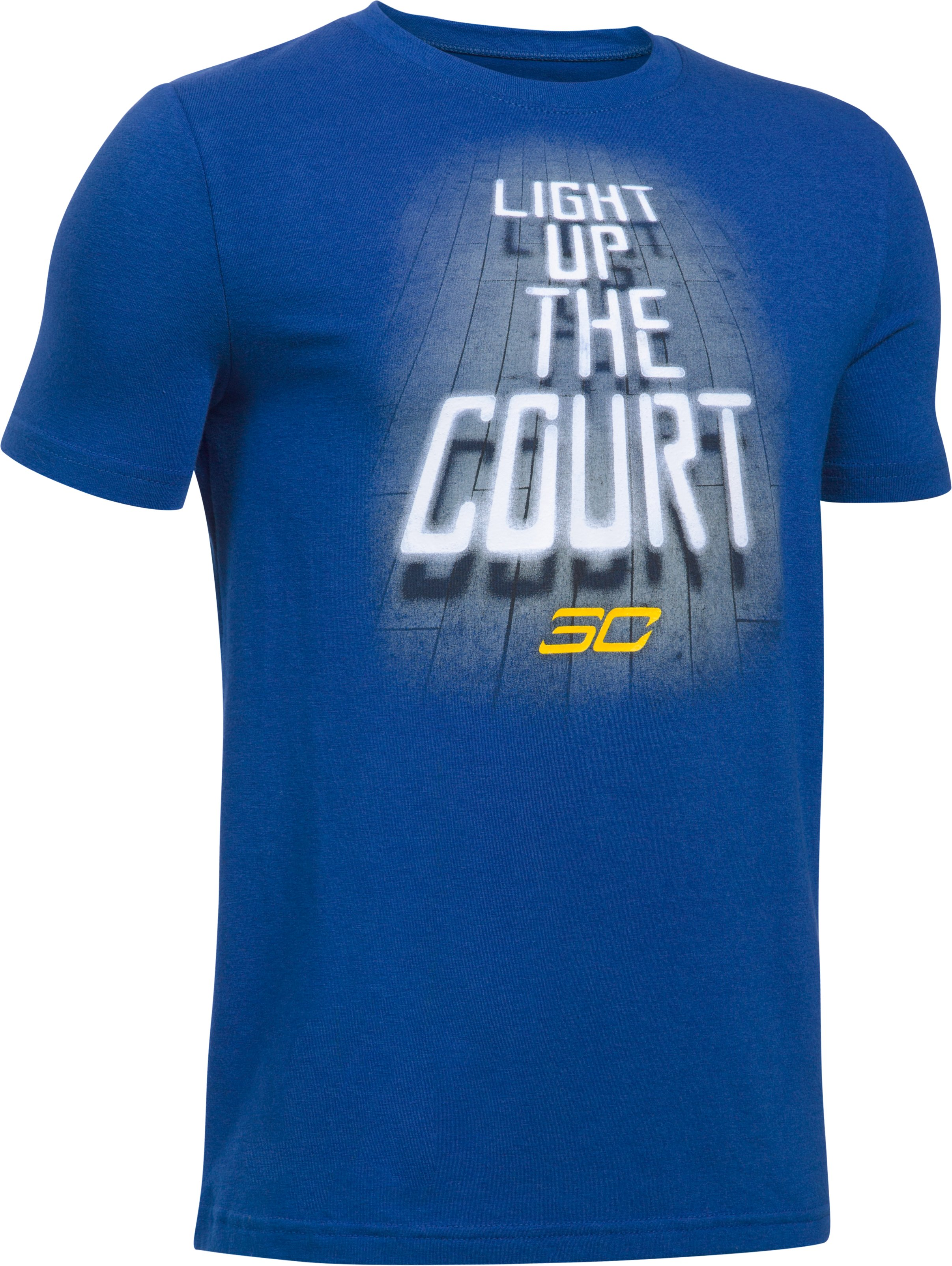 Boys' SC30 Light Up The Court T-Shirt, Royal
