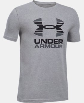 Boys' UA Two Tone Logo T-Shirt  4 Colors $19.99