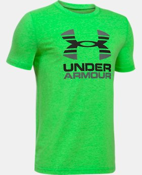 New to Outlet Boys' UA Two Tone Logo T-Shirt  1 Color $13.99