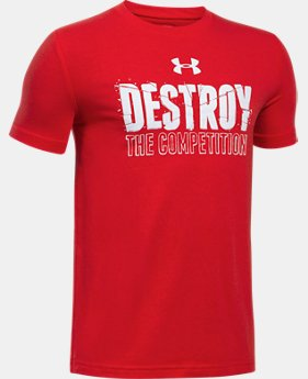 New Arrival  Boys' UA Destroy The Competition T-Shirt  1 Color $22.99