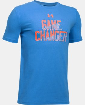 New to Outlet Boys' UA Game Changer T-Shirt  2 Colors $13.99