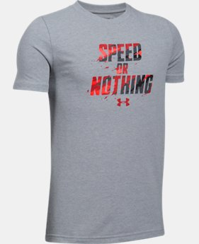 New Arrival Boys' UA Speed Or Nothing T-Shirt  1 Color $19.99