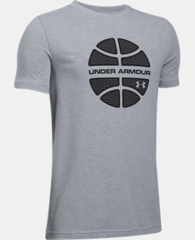 New Arrival Boys' UA Basketball Branded T-Shirt  1 Color $19.99