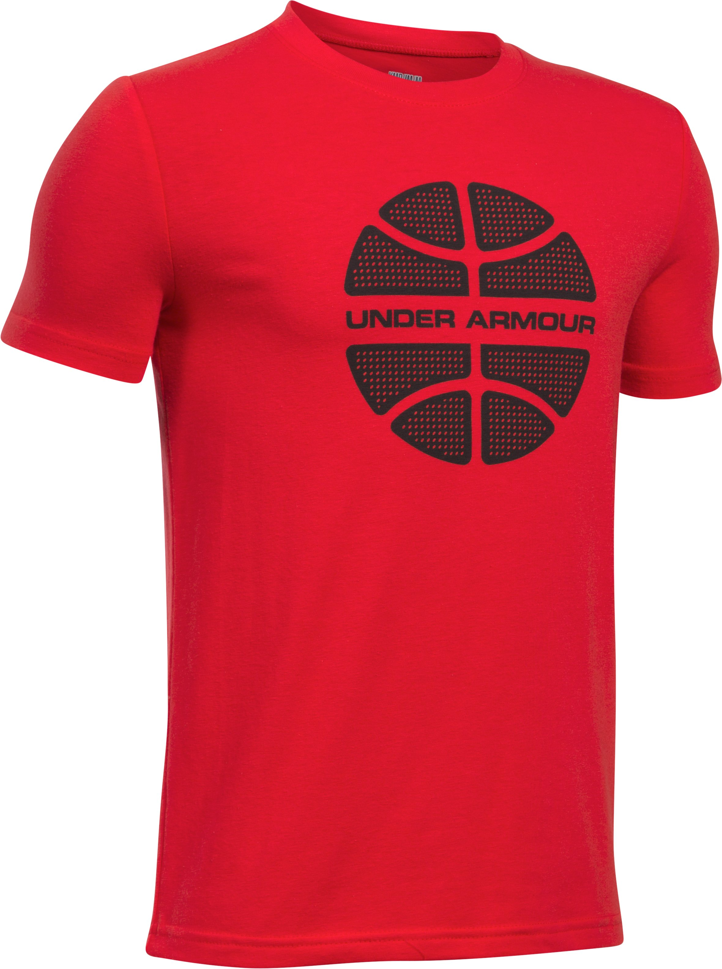 Boys' UA Basketball Branded T-Shirt, Red,