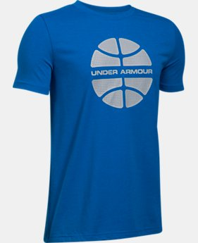 Boys' UA Basketball Branded T-Shirt  1 Color $19.99