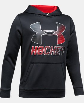 New Arrival  Boys' UA Hockey Wordmark Hoodie  3 Colors $59.99