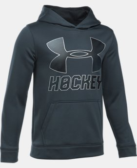 Boys' UA Hockey Wordmark Hoodie LIMITED TIME OFFER 2 Colors $29.99