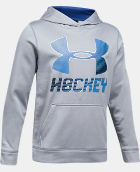 Boys' UA Hockey Wordmark Hoodie LIMITED TIME OFFER 1 Color $29.99