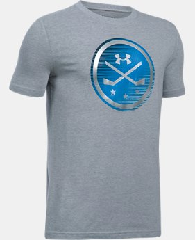 Boys' UA Hockey Logo T-Shirt LIMITED TIME: FREE SHIPPING 1 Color $22.99