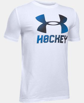 New Arrival  Boys' UA Hockey Wordmark T-Shirt  2 Colors $22.99