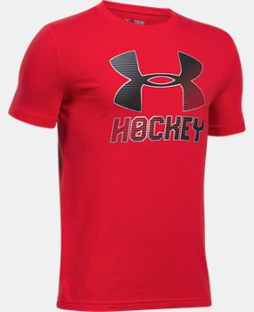 New Arrival  Boys' UA Hockey Wordmark T-Shirt  1 Color $22.99