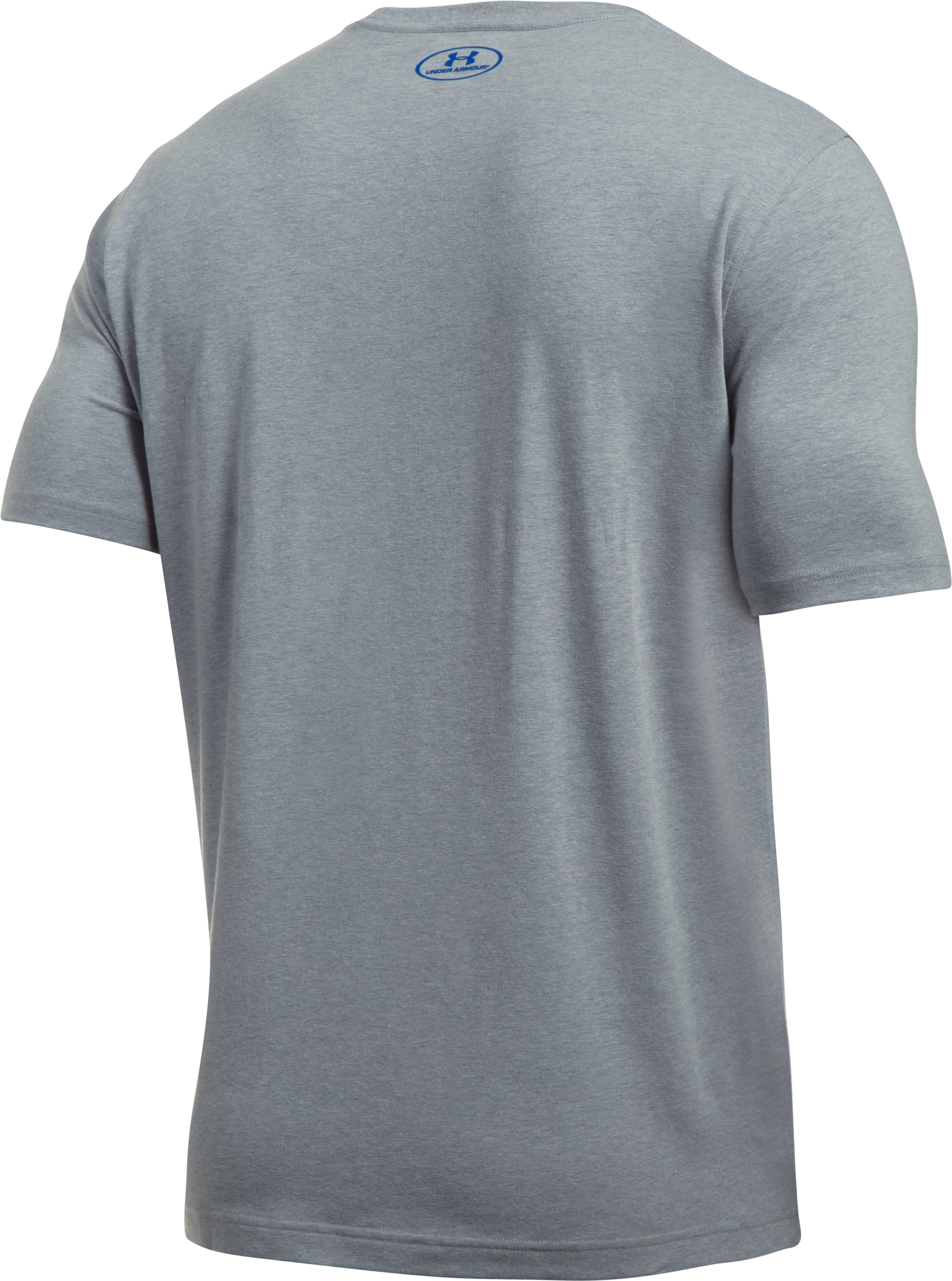 Men's UA Baseline Graphic T-Shirt, STEEL LIGHT HEATHER,
