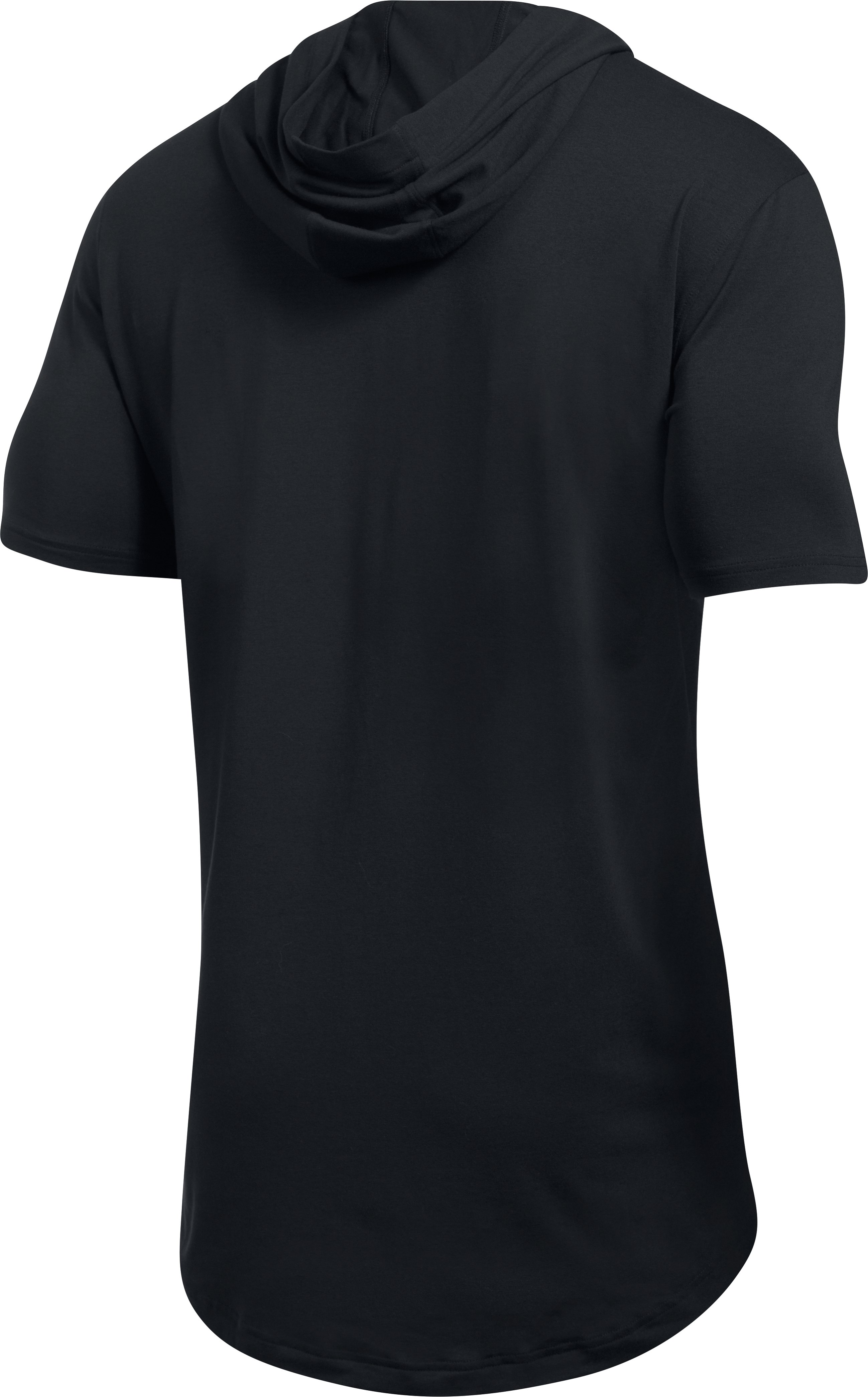 Men's UA Baseline T-Shirt Hooded T-Shirt, Black ,