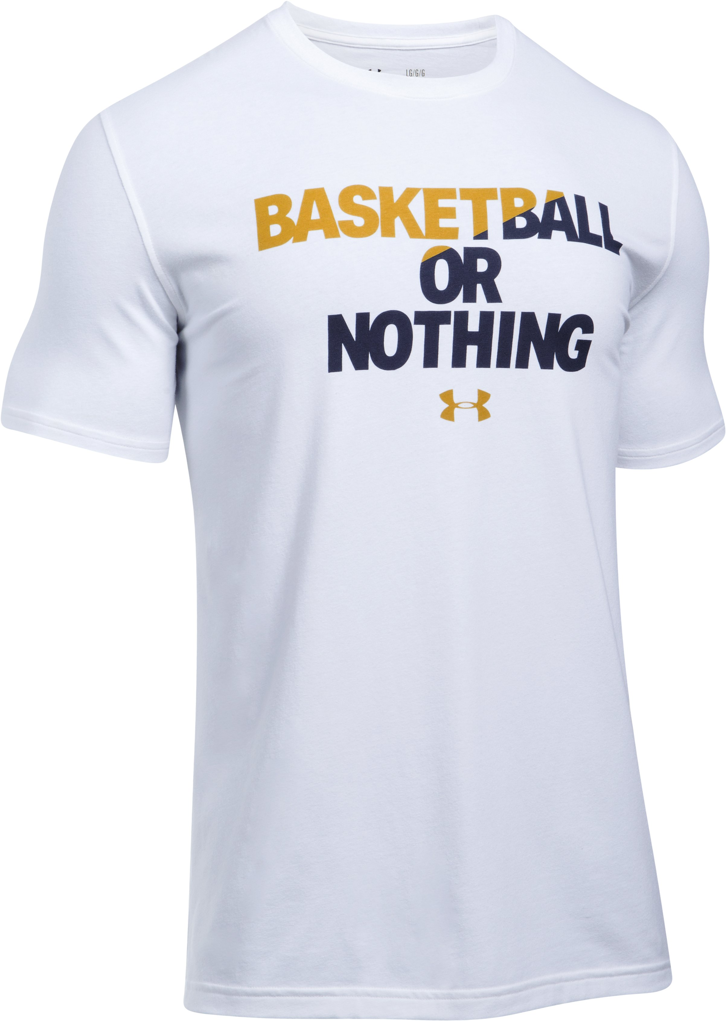 Men's UA BBall Or Nothing T-Shirt, White, undefined
