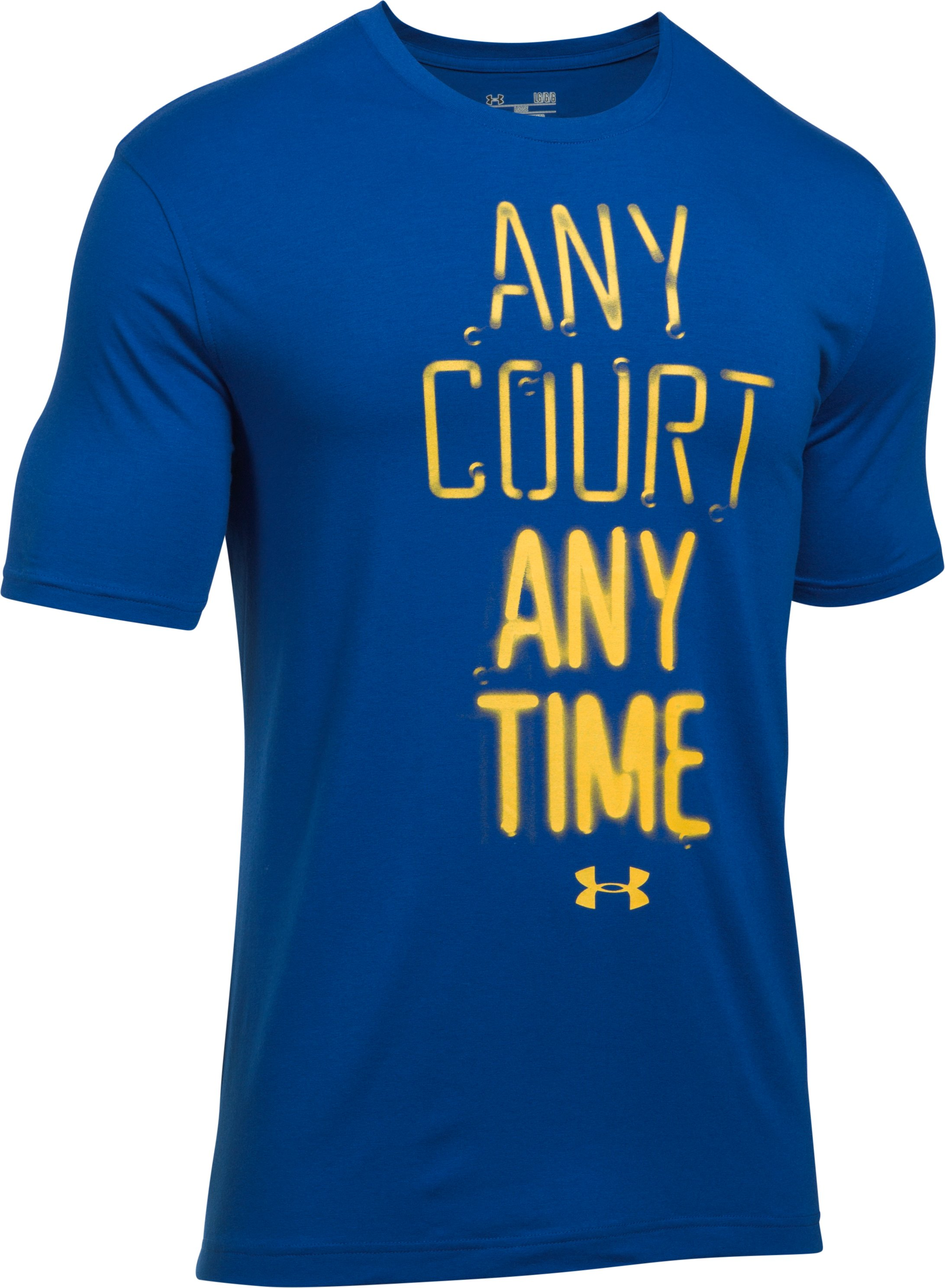 Men's UA Any Court Any Time T-Shirt, Royal, undefined