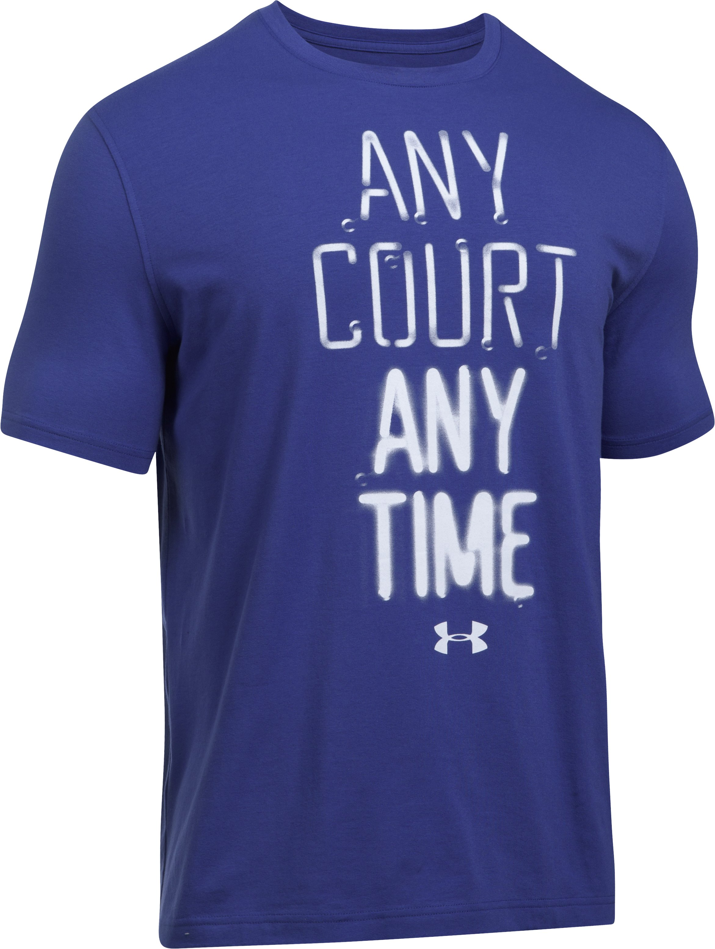 Men's UA Any Court Any Time T-Shirt, Pluto