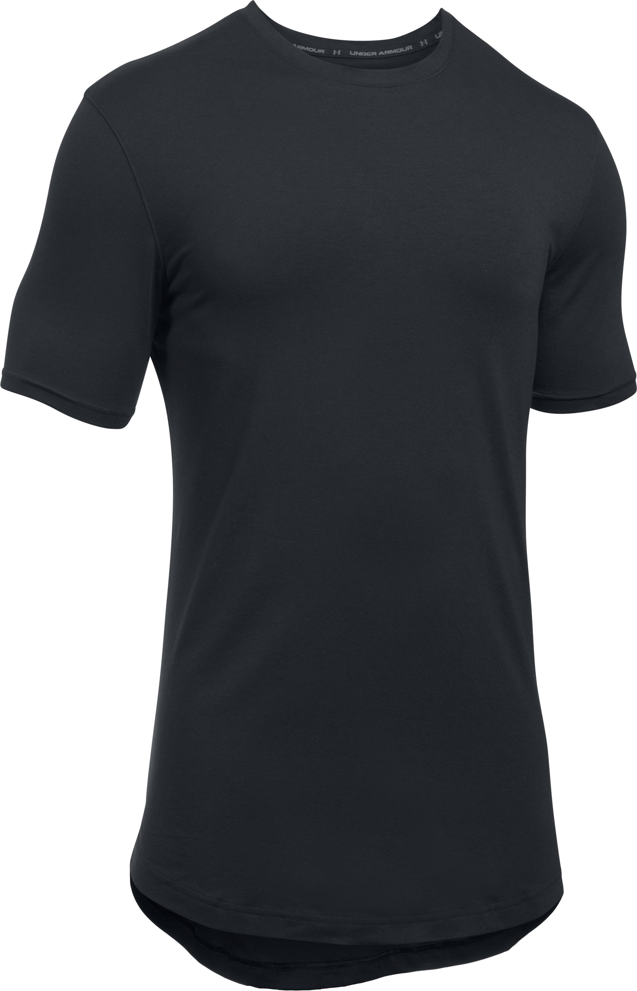Men's UA Baseline Long Line T-Shirt, Black , undefined