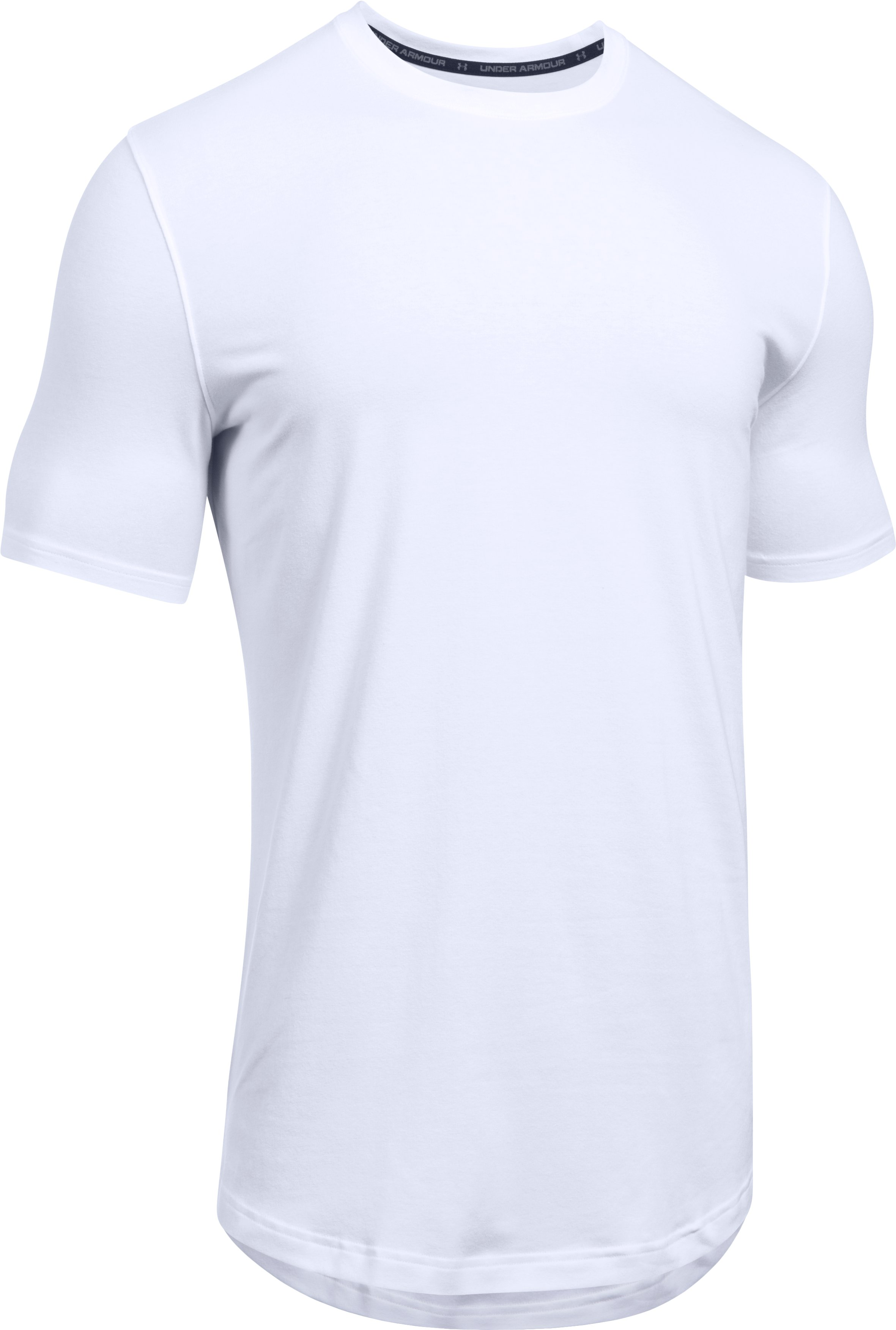 Men's UA Baseline Long Line T-Shirt, White,