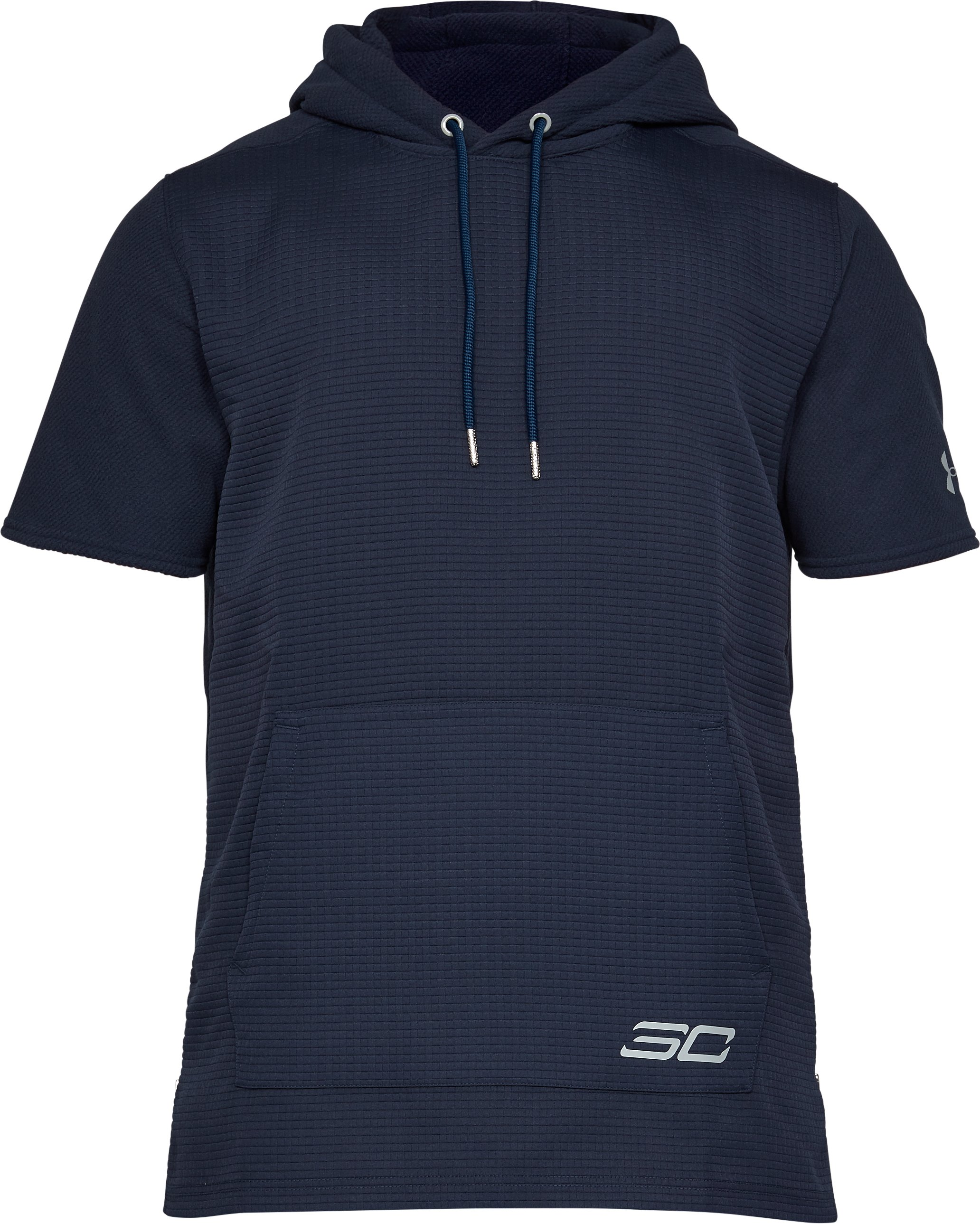 Men's SC30 Curry Life Short Sleeve Hoodie, Midnight Navy,