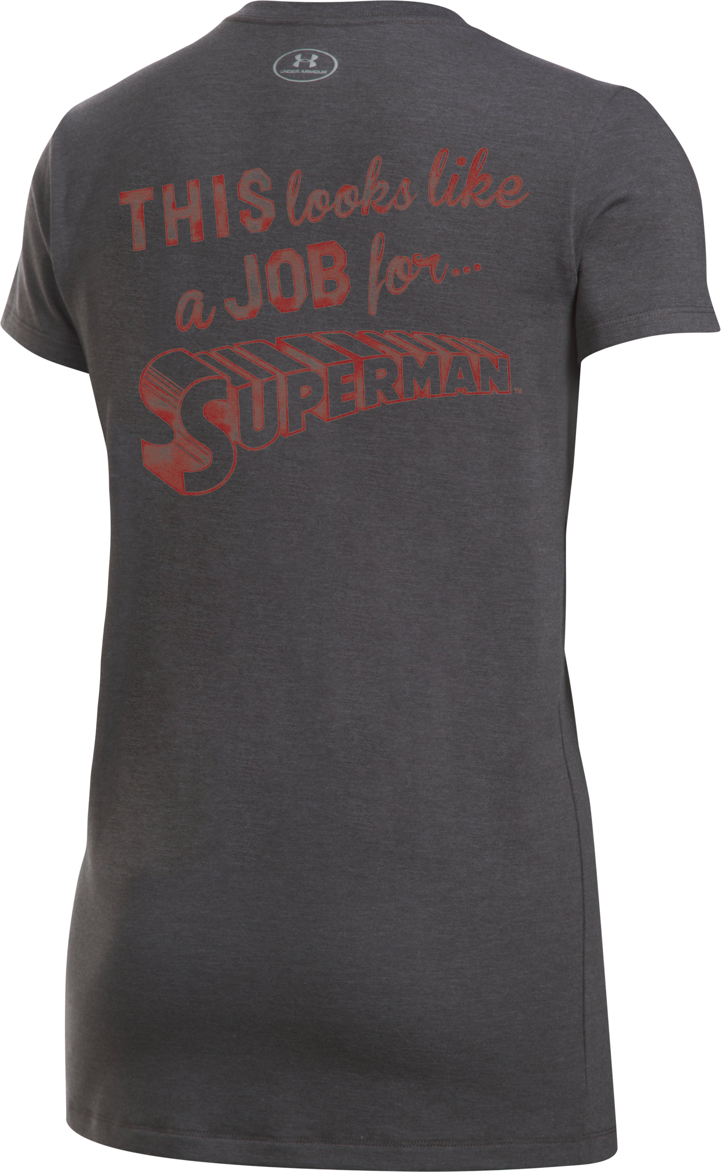 Women's Under Armour® Alter Ego Retro Superman Graphic T-Shirt, Carbon Heather,