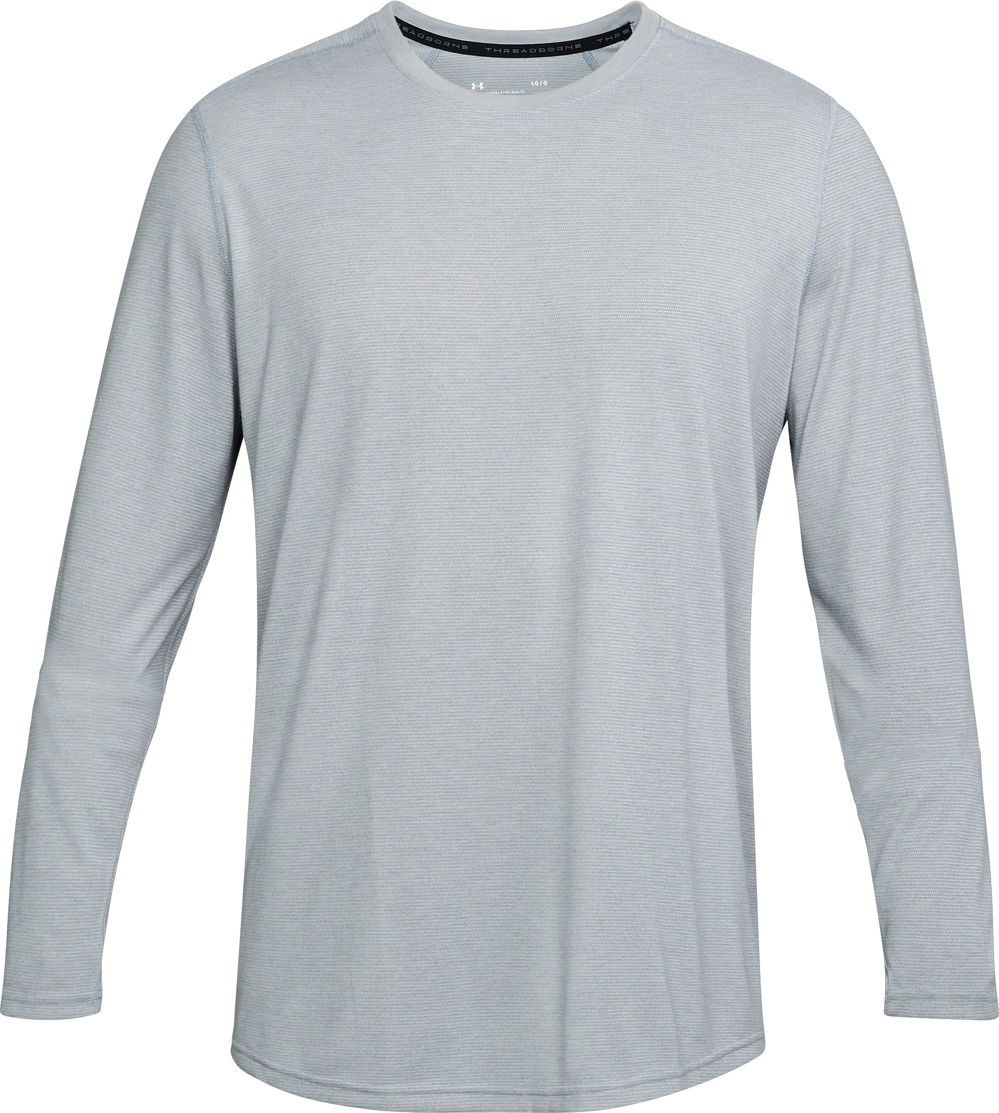 Men's UA Threadborne™ Long Sleeve, True Gray Heather,