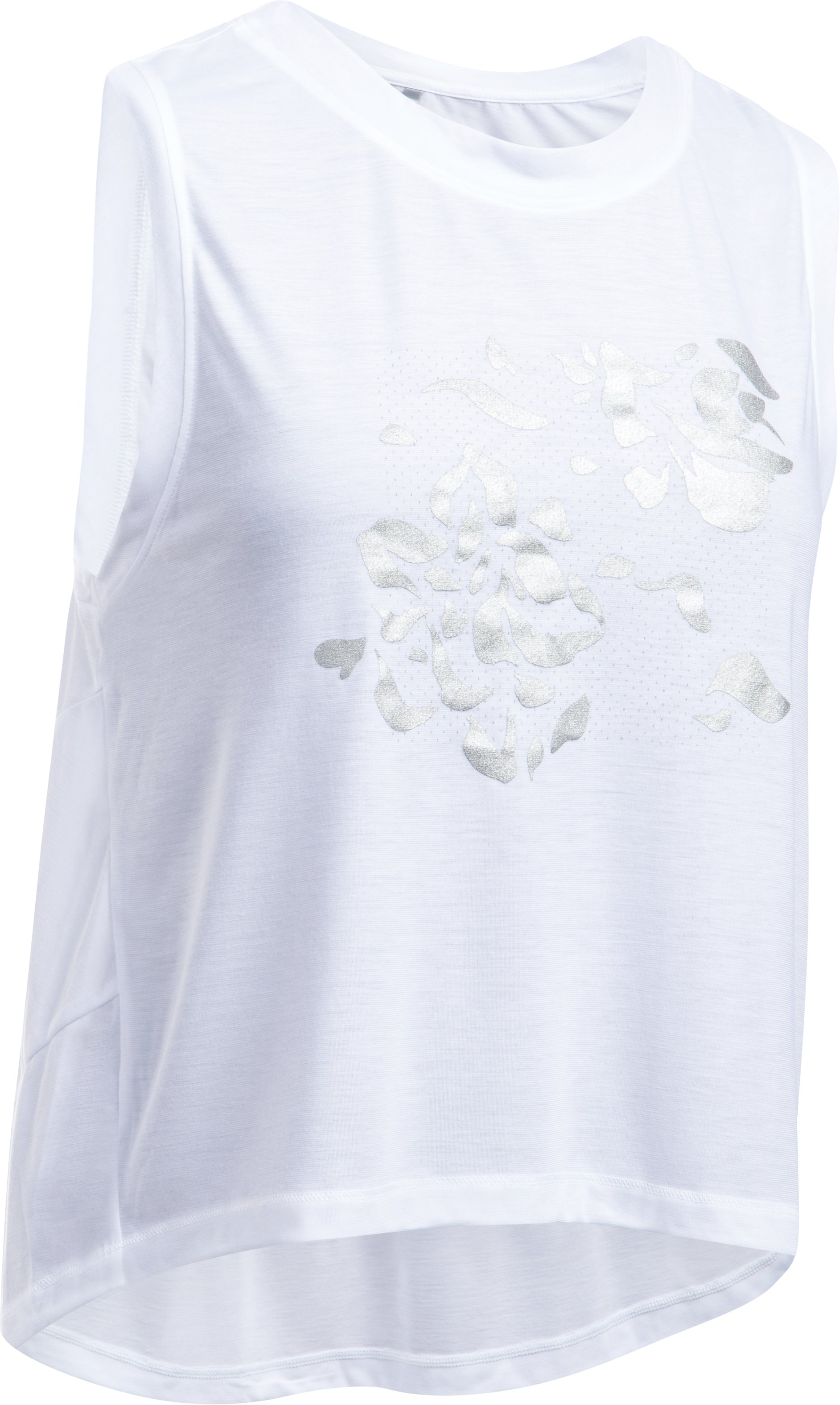 Women's UA Supreme Floral Muscle Tank, White,