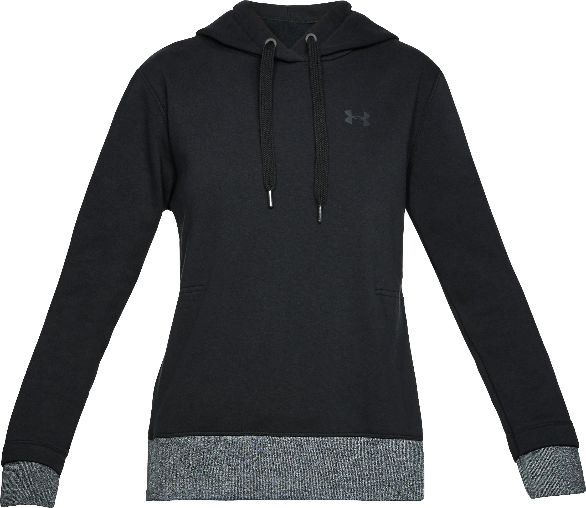 Women's UA Threadborne™ Fleece Hoodie, Black , undefined