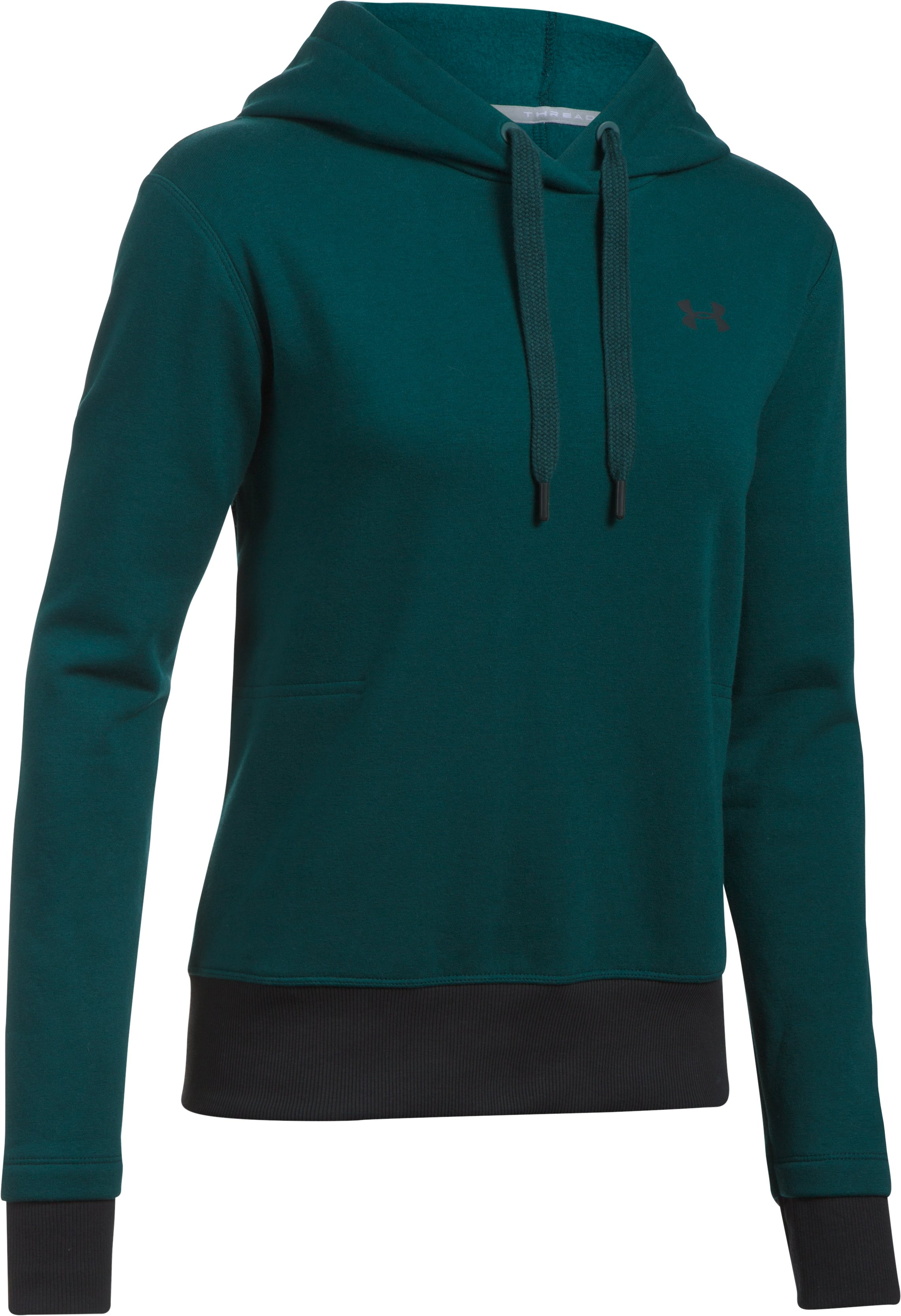 Women's UA Threadborne™ Fleece Hoodie, ARDEN GREEN,