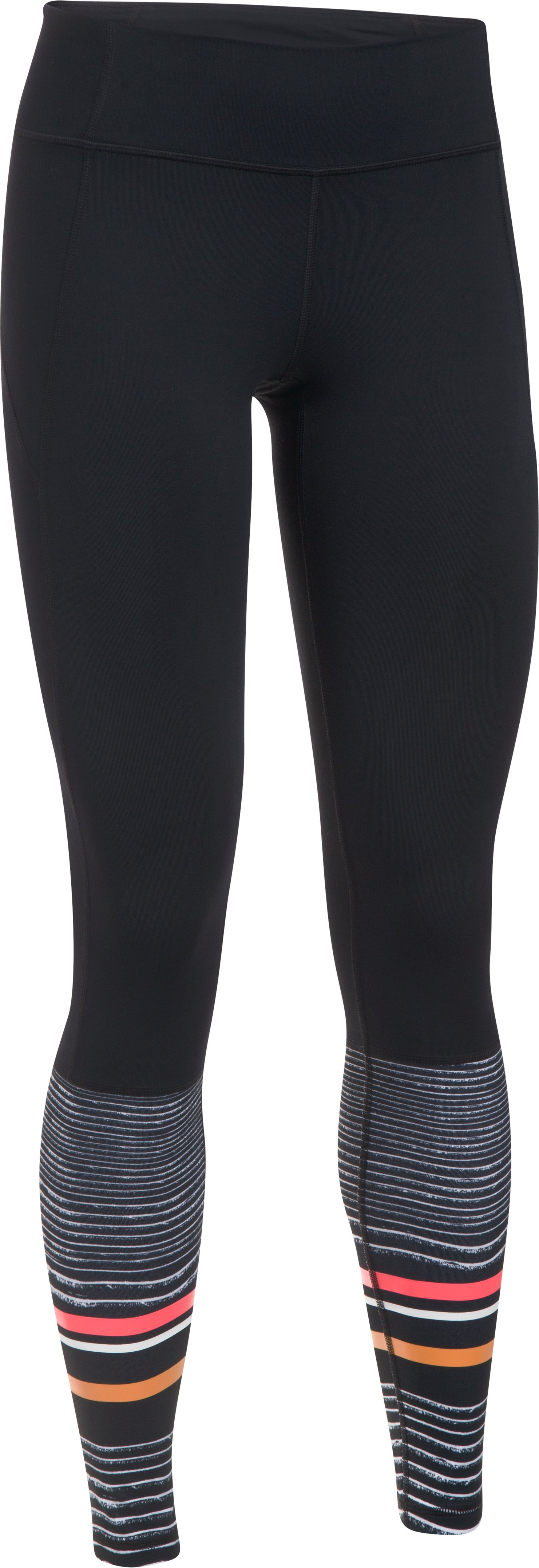 Women's UA Mirror Striped Leggings, Black ,