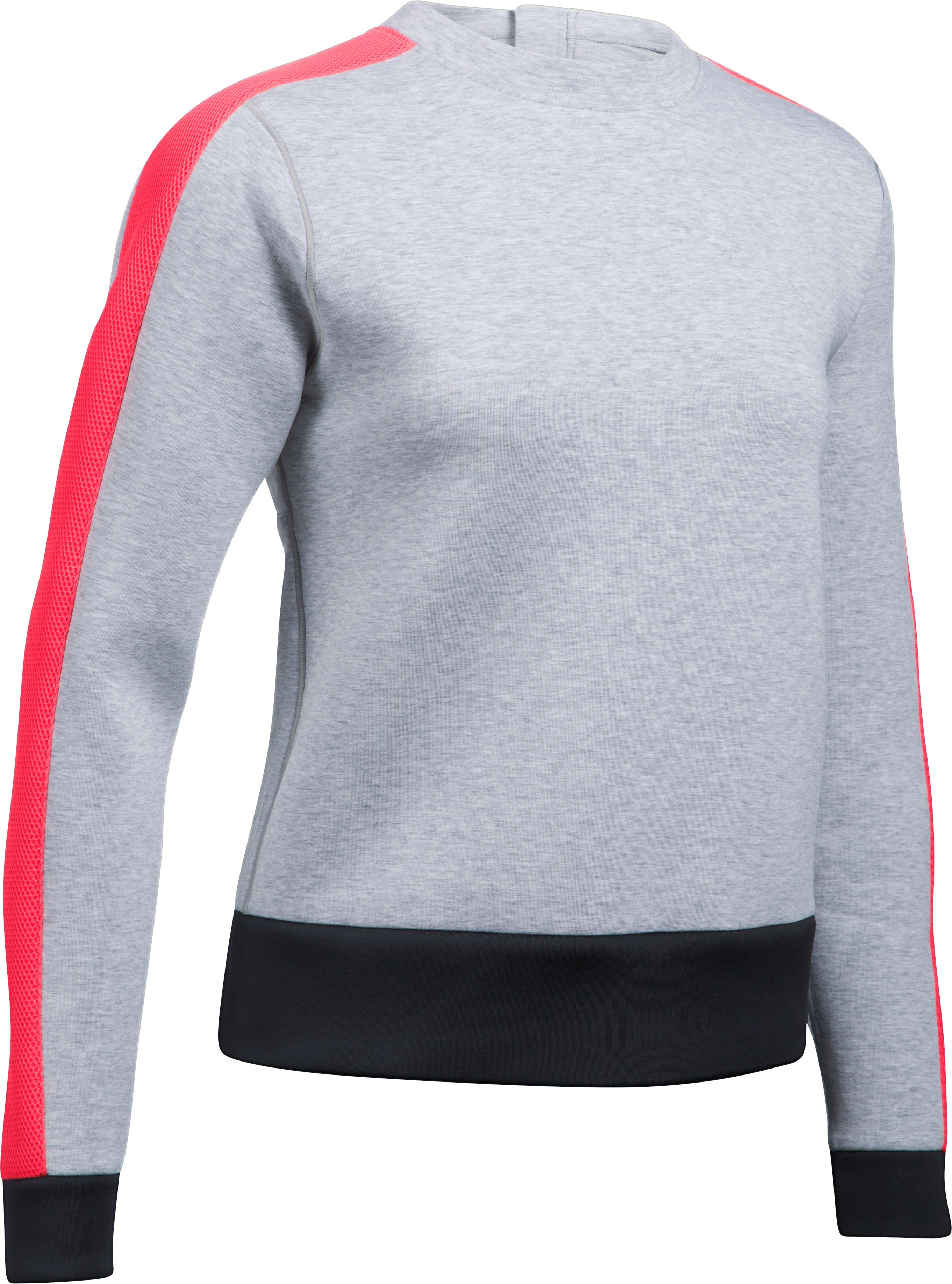 Women's UA Luster Long Sleeve Crew, AIR FORCE GRAY HEATHER, undefined