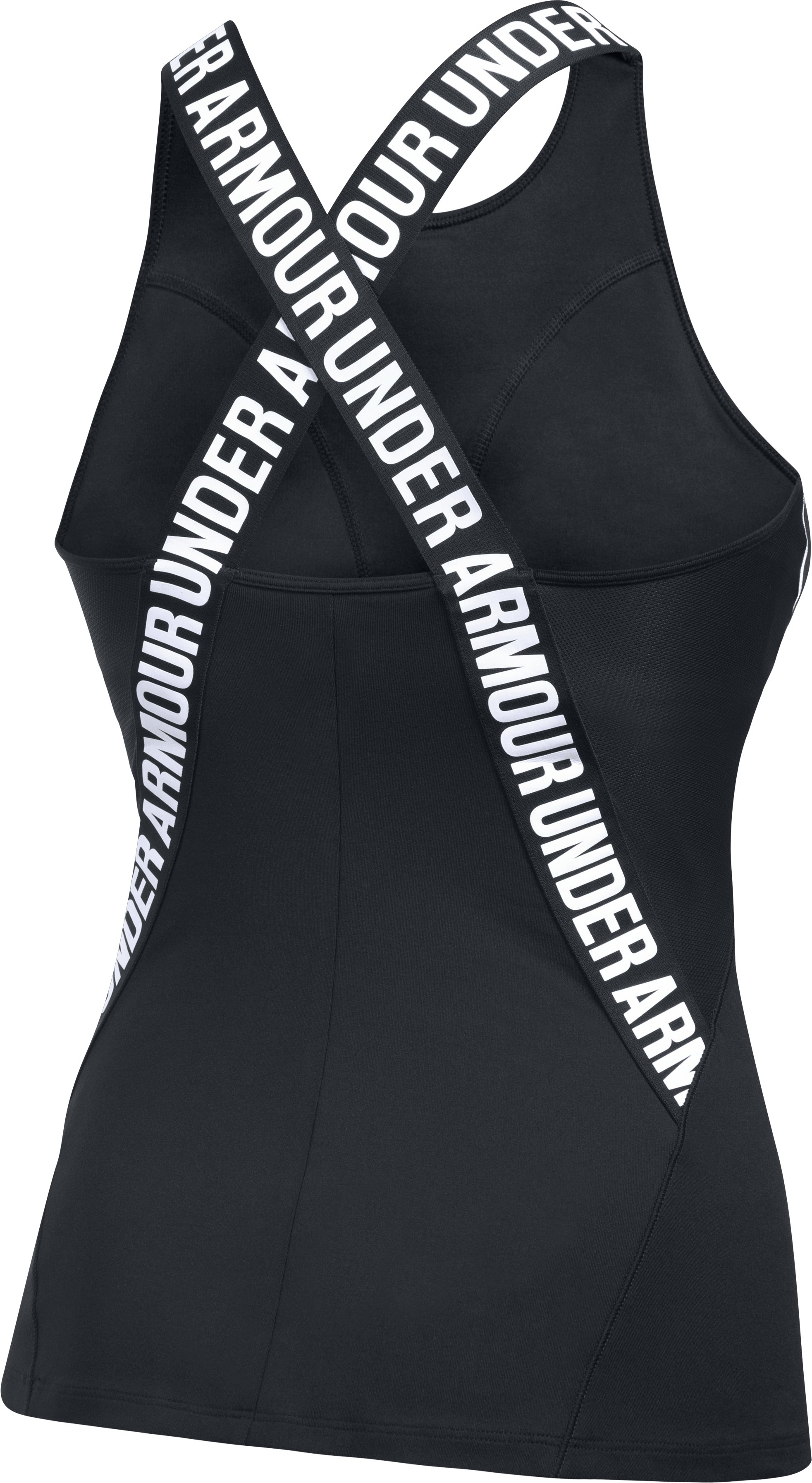 Women's UA Mirror Crossback Tank, Black , undefined