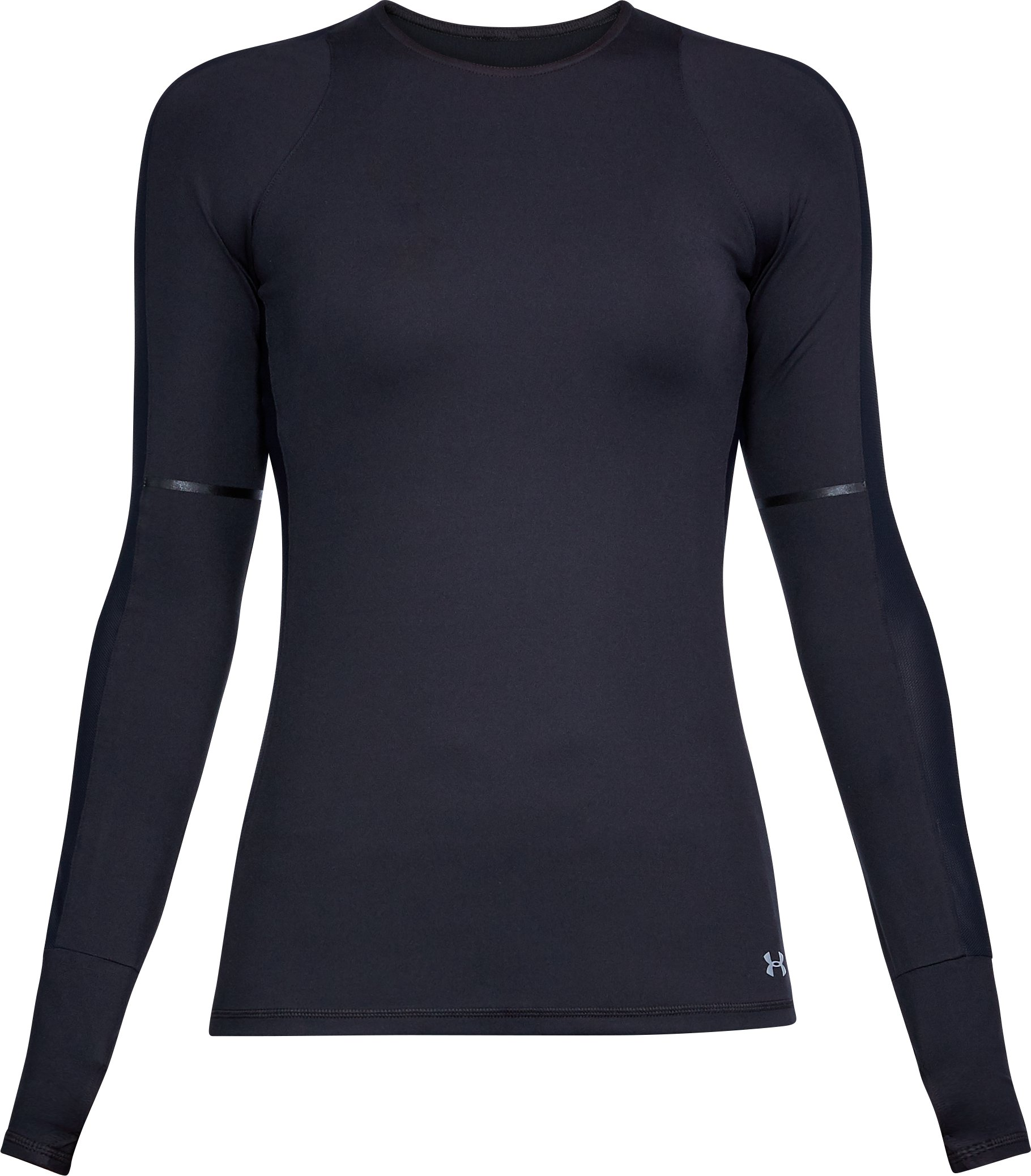 Women's UA Mirror Printed Long Sleeve Shirt, Black ,