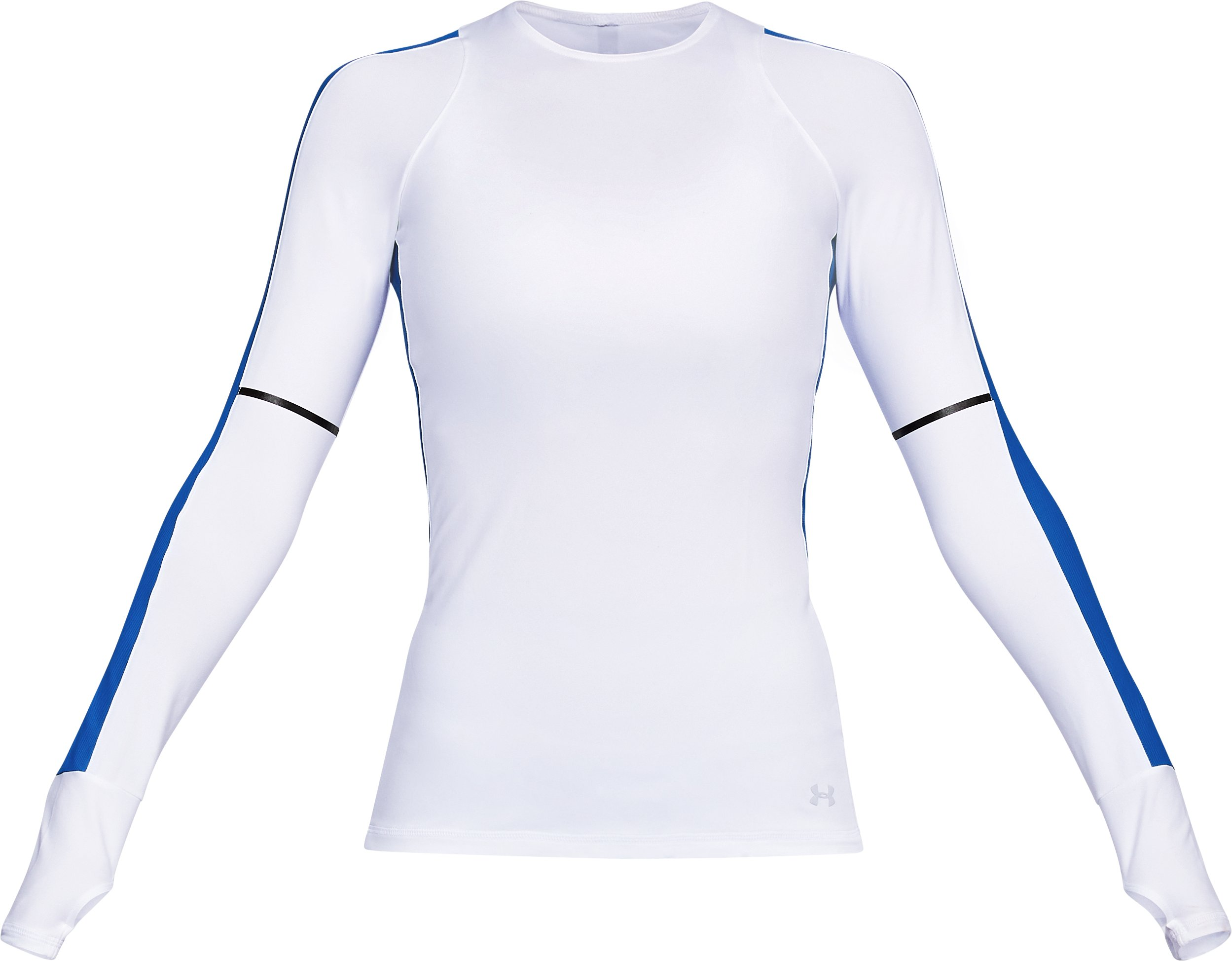 Women's UA Mirror Printed Long Sleeve Shirt, White,