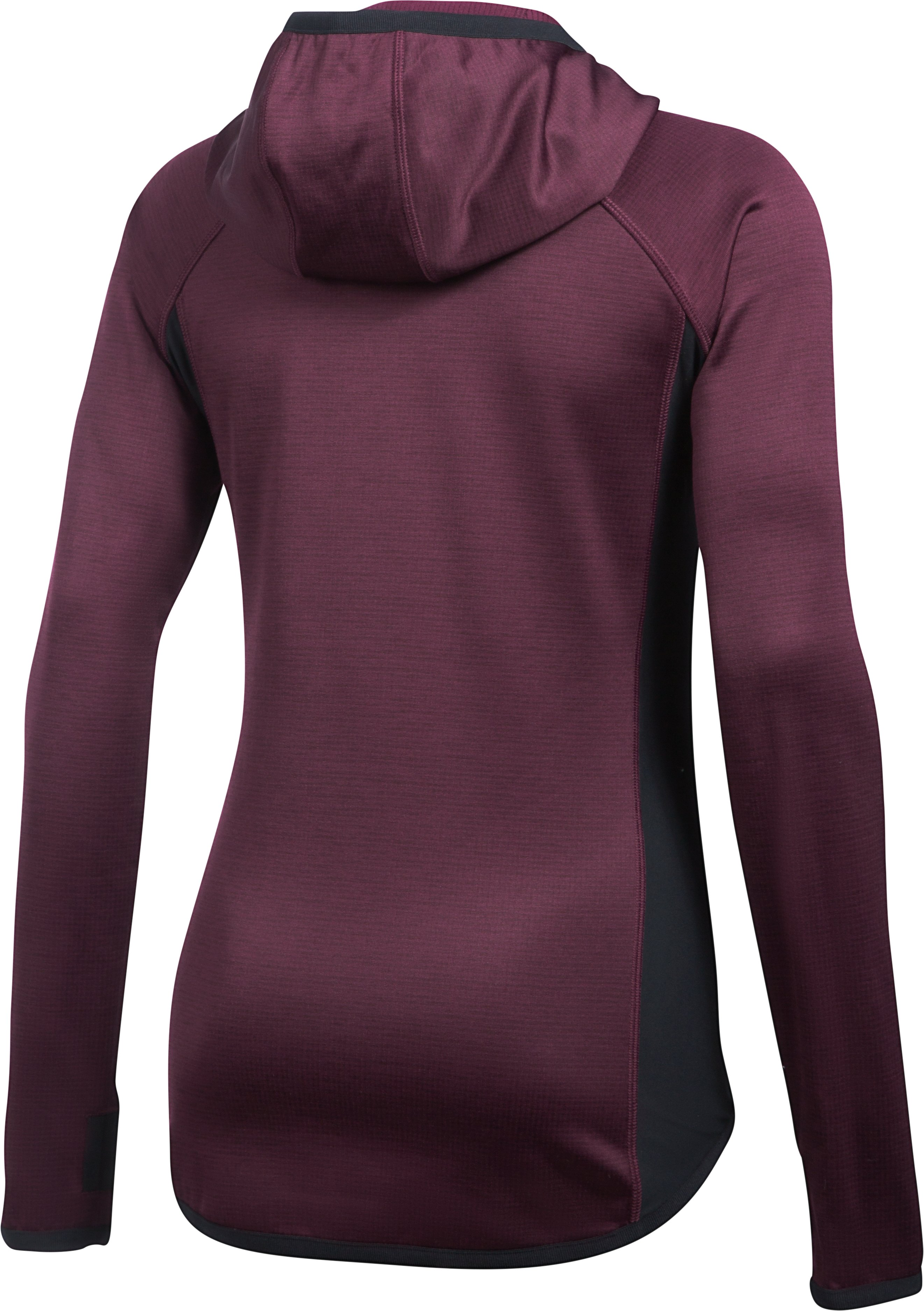 Women's UA ColdGear® Reactor Fleece Hoodie, RAISIN RED,