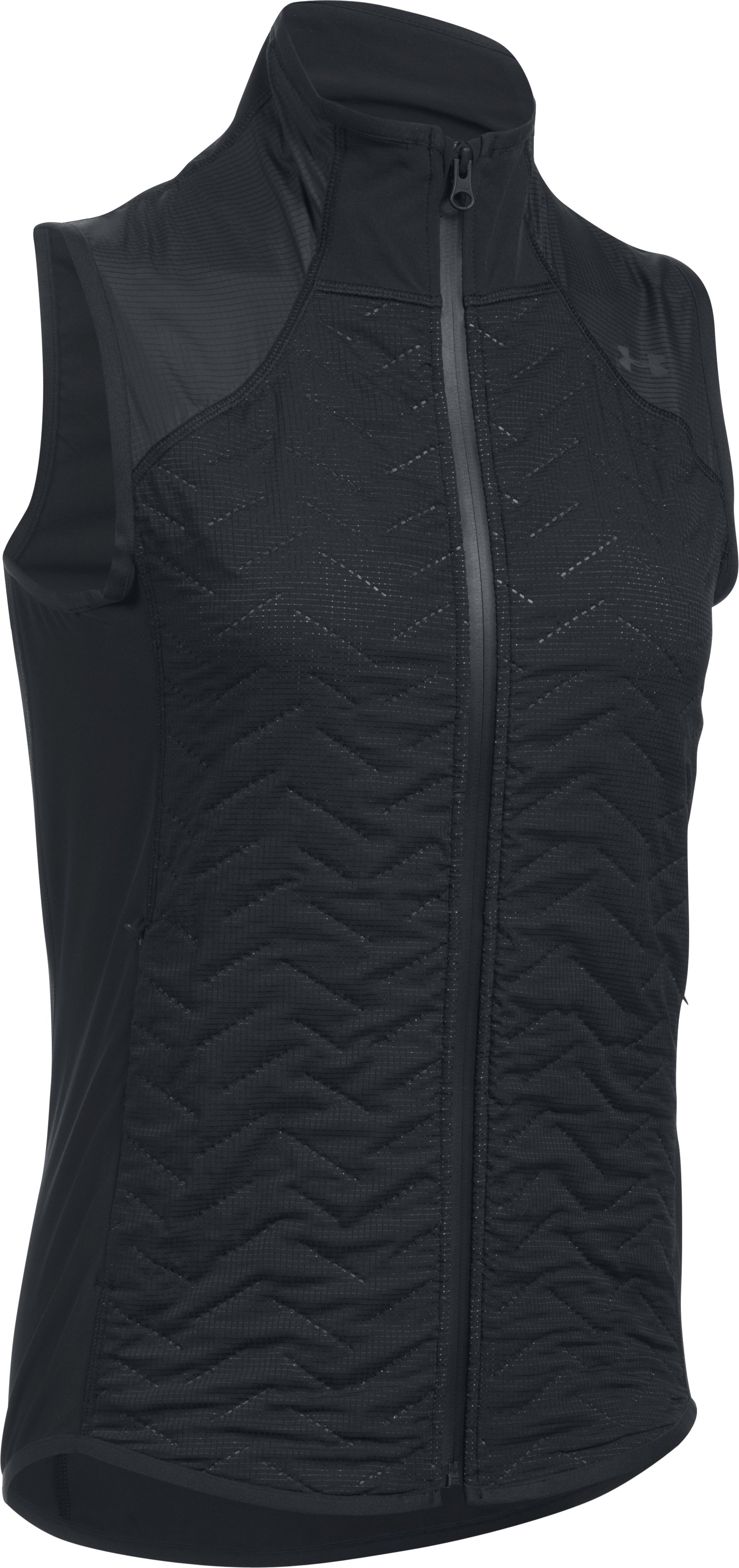 Women's ColdGear® Reactor Fleece Vest, Black ,