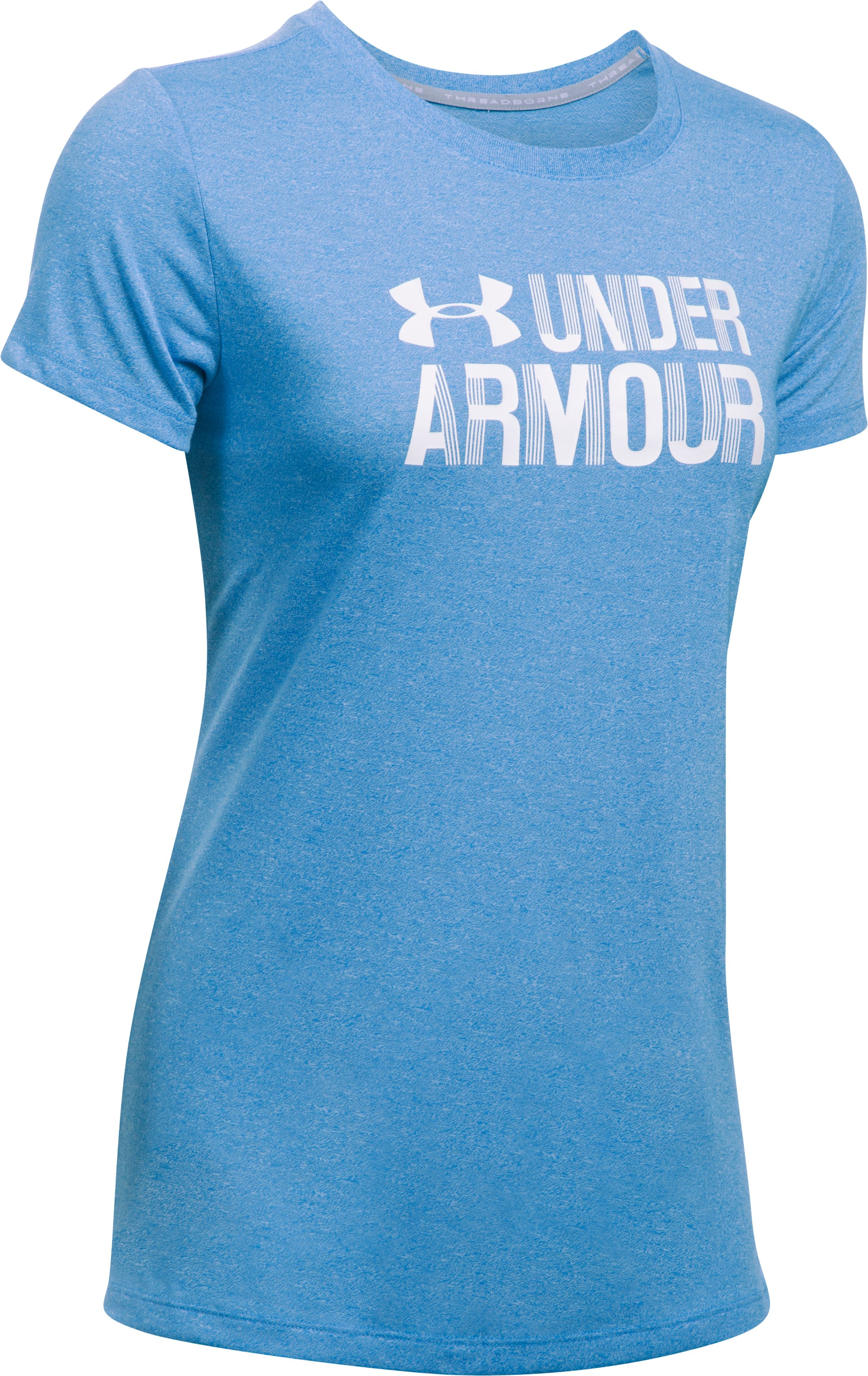 Women's UA Threadborne™ Twist Graphic Short Sleeve, MAKO BLUE,