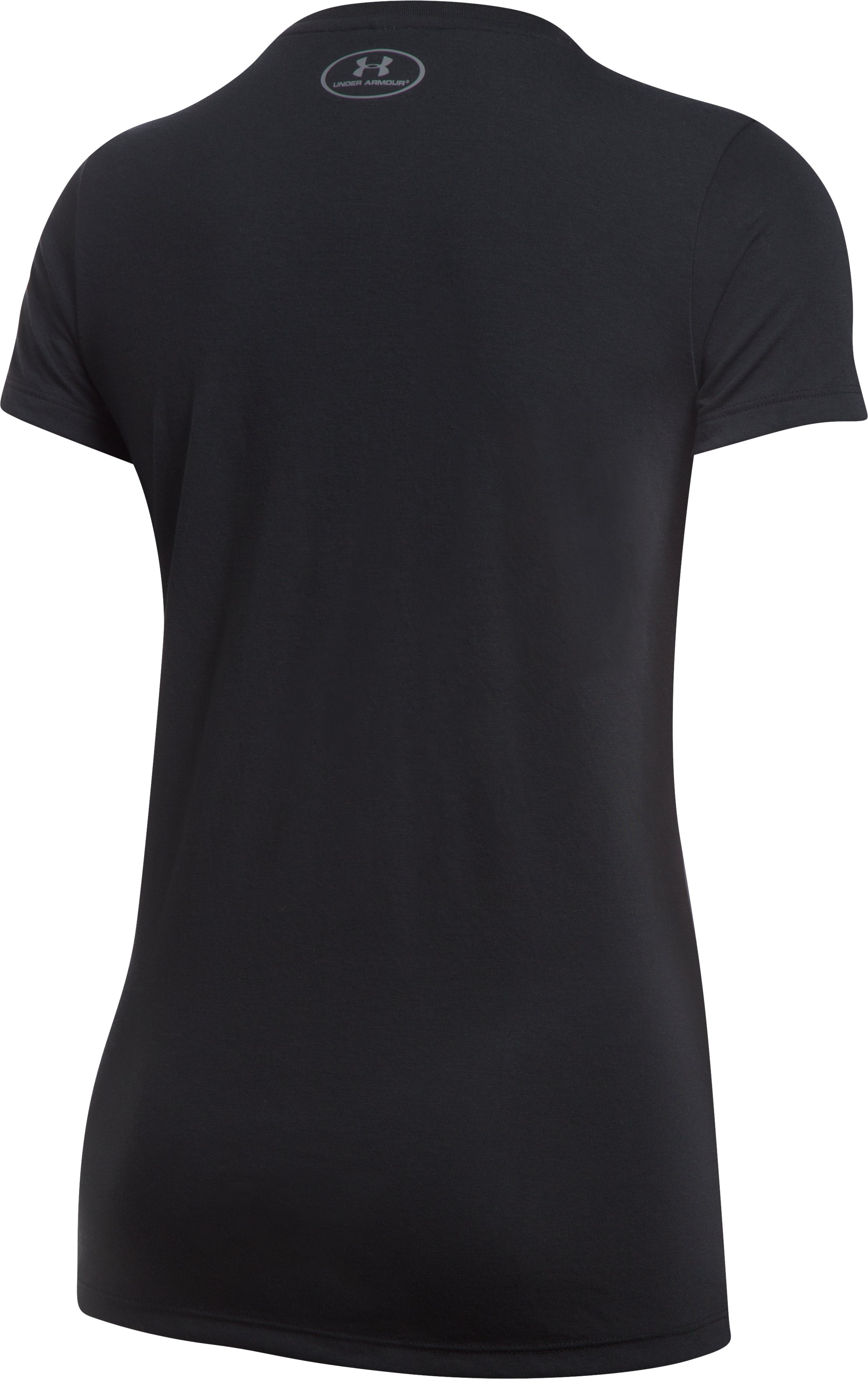 Women's UA Threadborne™ Graphic V-Neck, Black ,