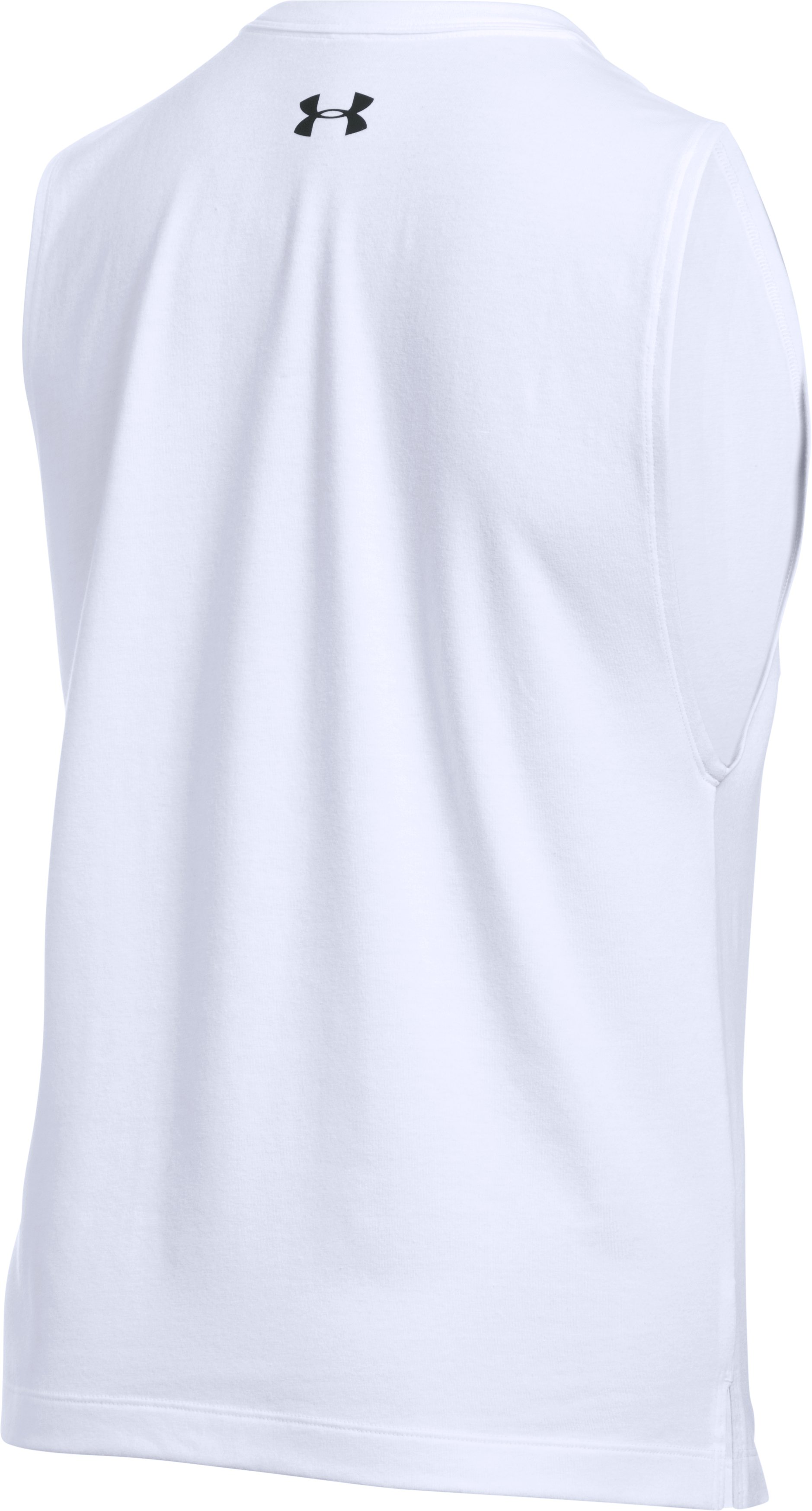 Women's UA Top Knots & Squats Muscle Tank, White,