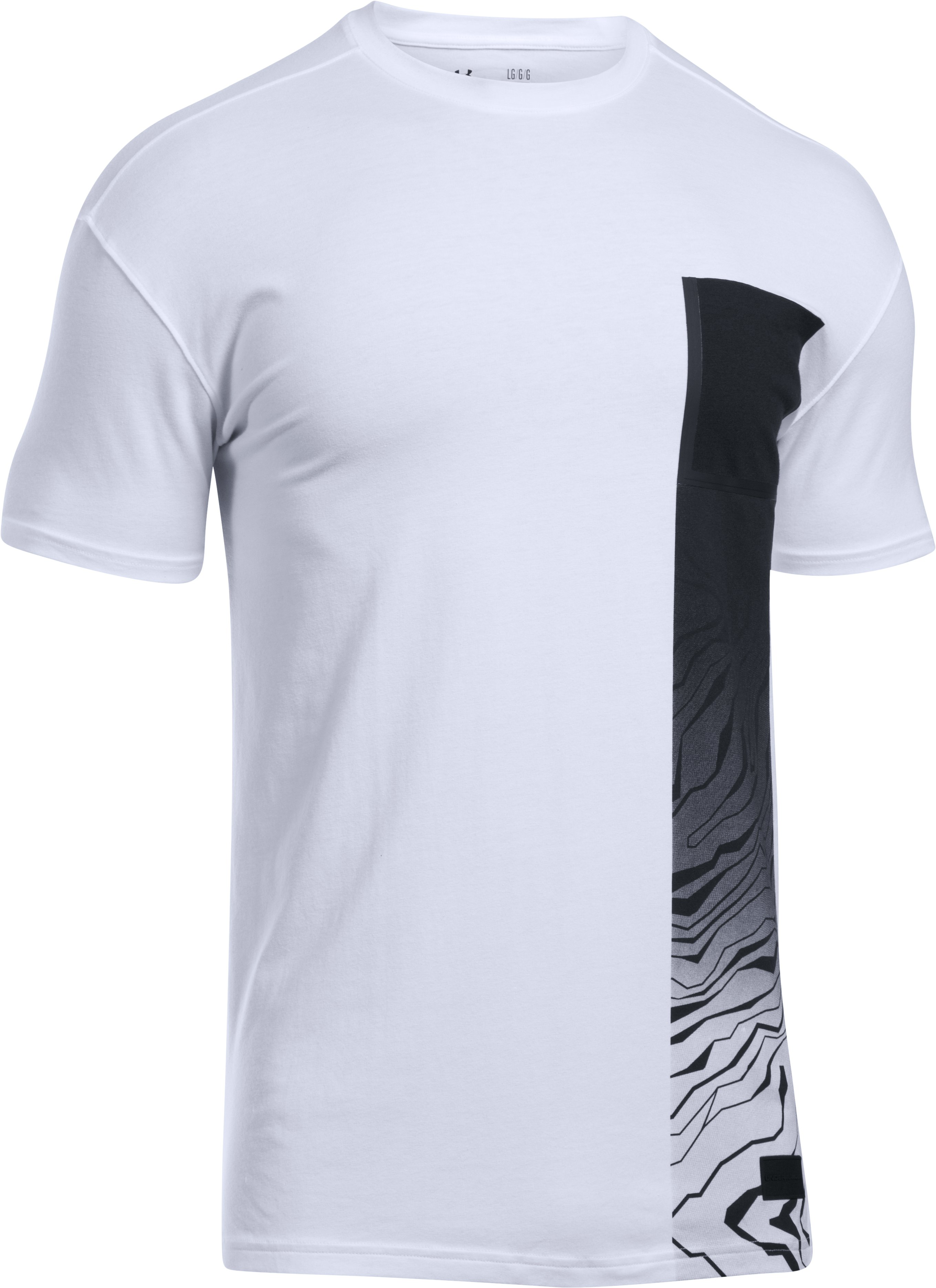 Men's UA Pursuit Subsurface T-Shirt, White, undefined